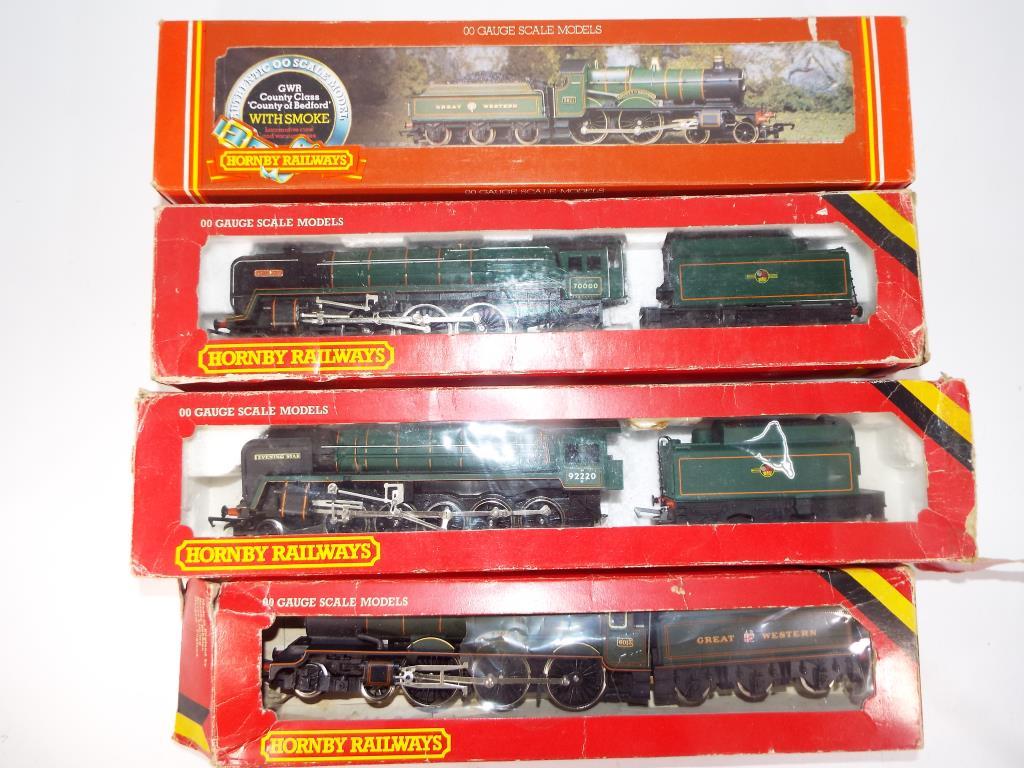 Lot 58 - Model Railways - four Hornby OO gauge steam locomotives,