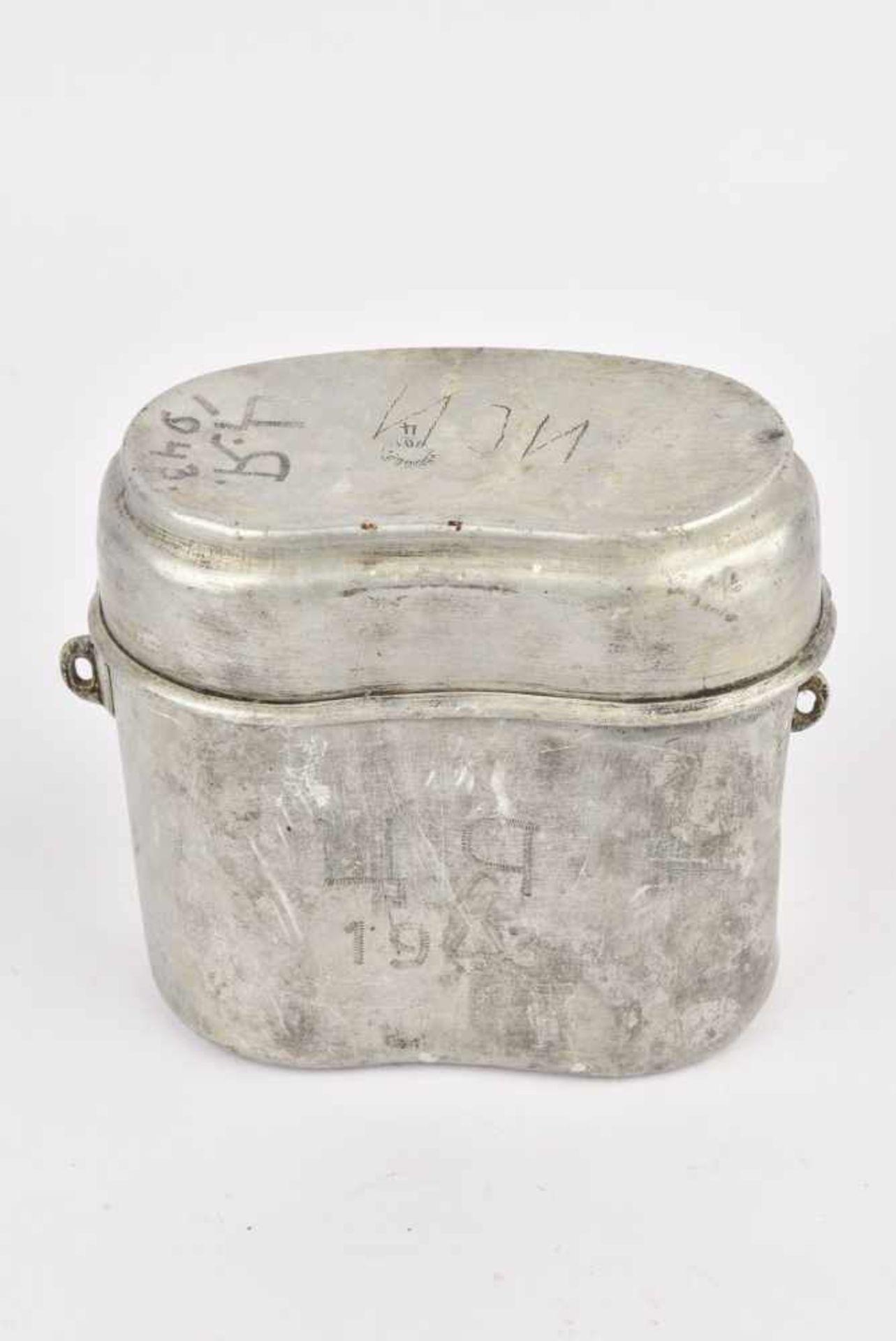 Gamelle M.36 datée 1940 avec inscription de 1943 (manque anse). Cette pièce provient de la - Bild 4 aus 4