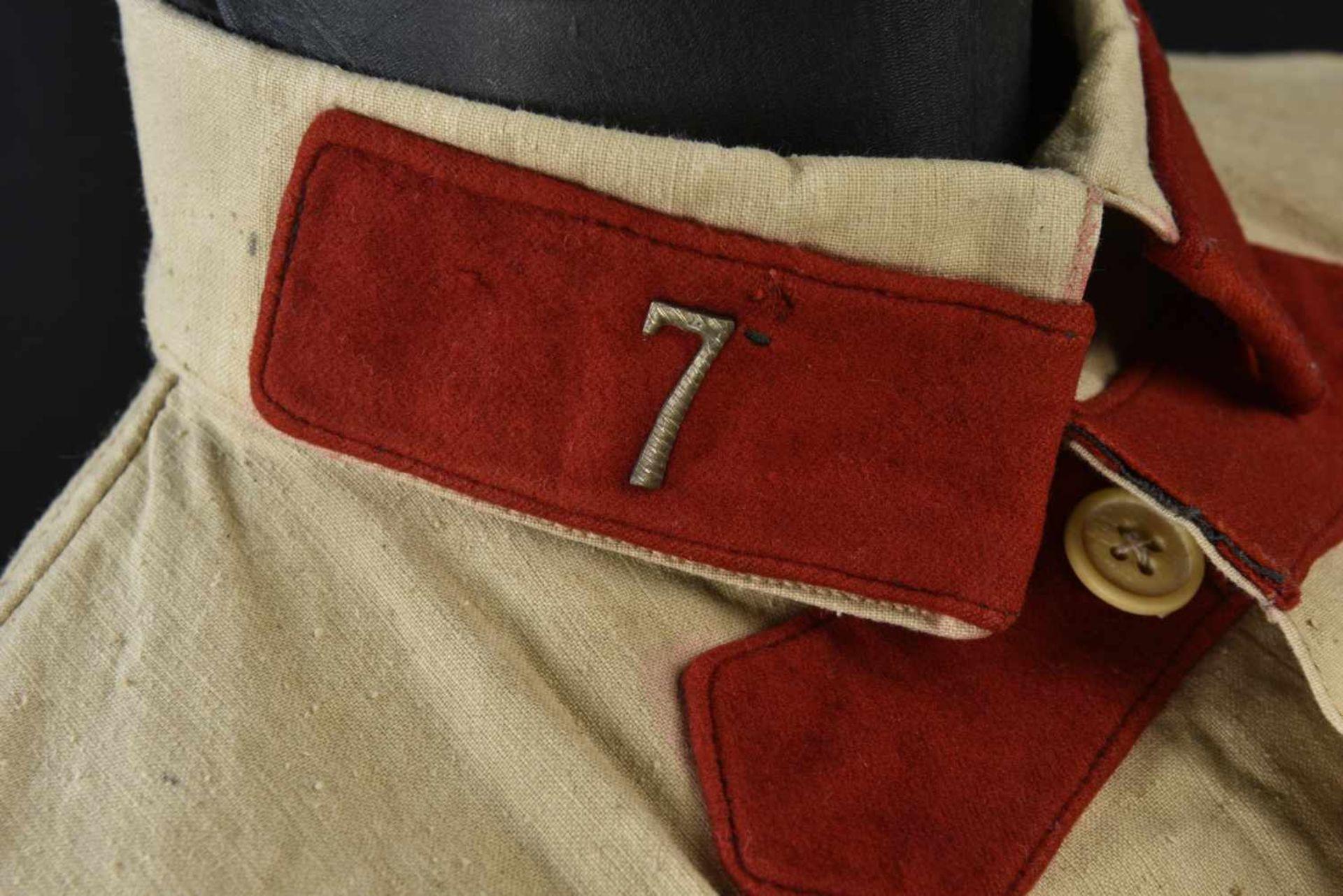 Gymnasterka M.22 de l'artillerie en grosse toile, avec ses pattes de col, parements de poitrine, - Bild 4 aus 4