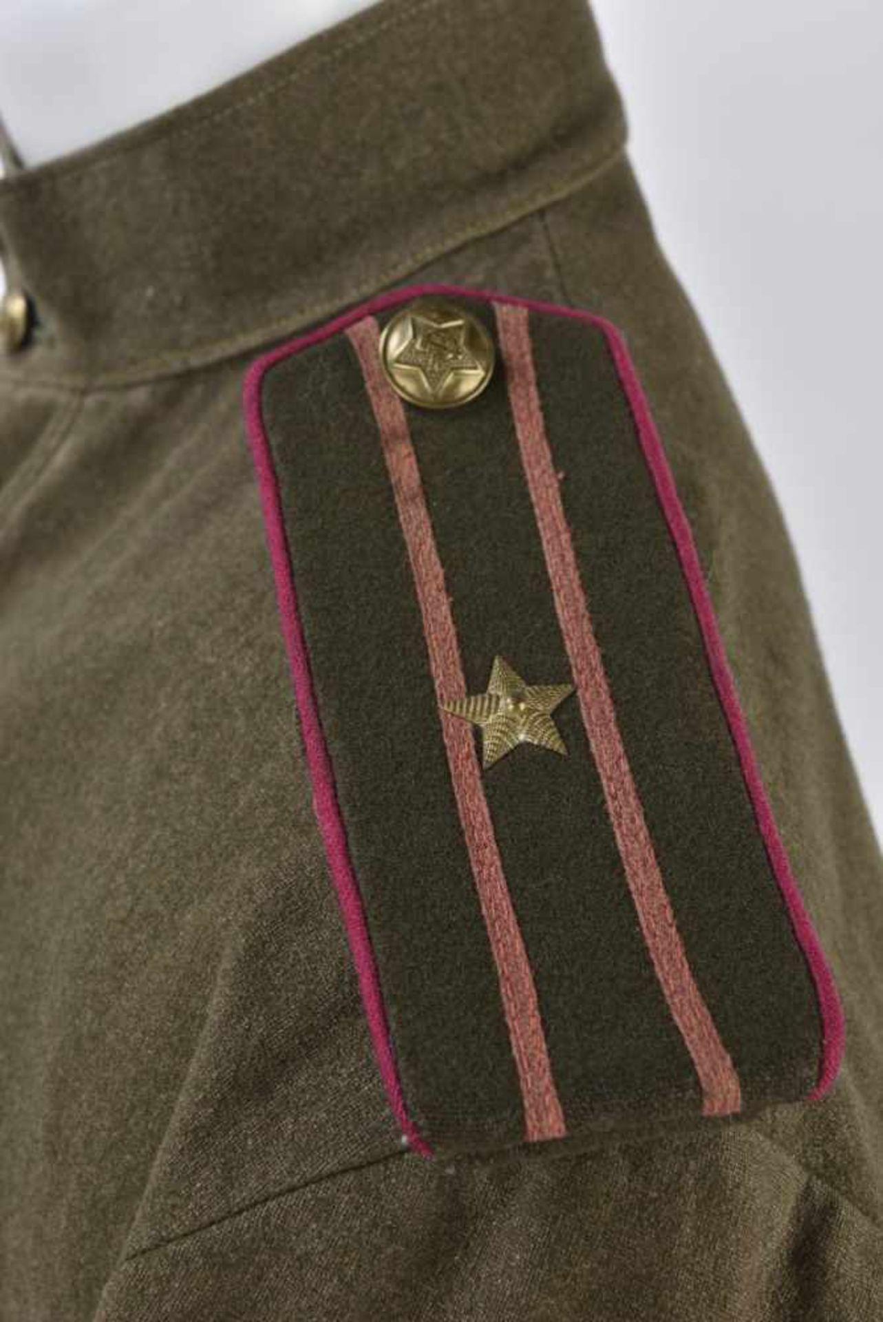 Gymnasterka M.35/43 d'un Colonel de l'infanterie Le col rabattu a été modifié en col droit, - Bild 3 aus 4