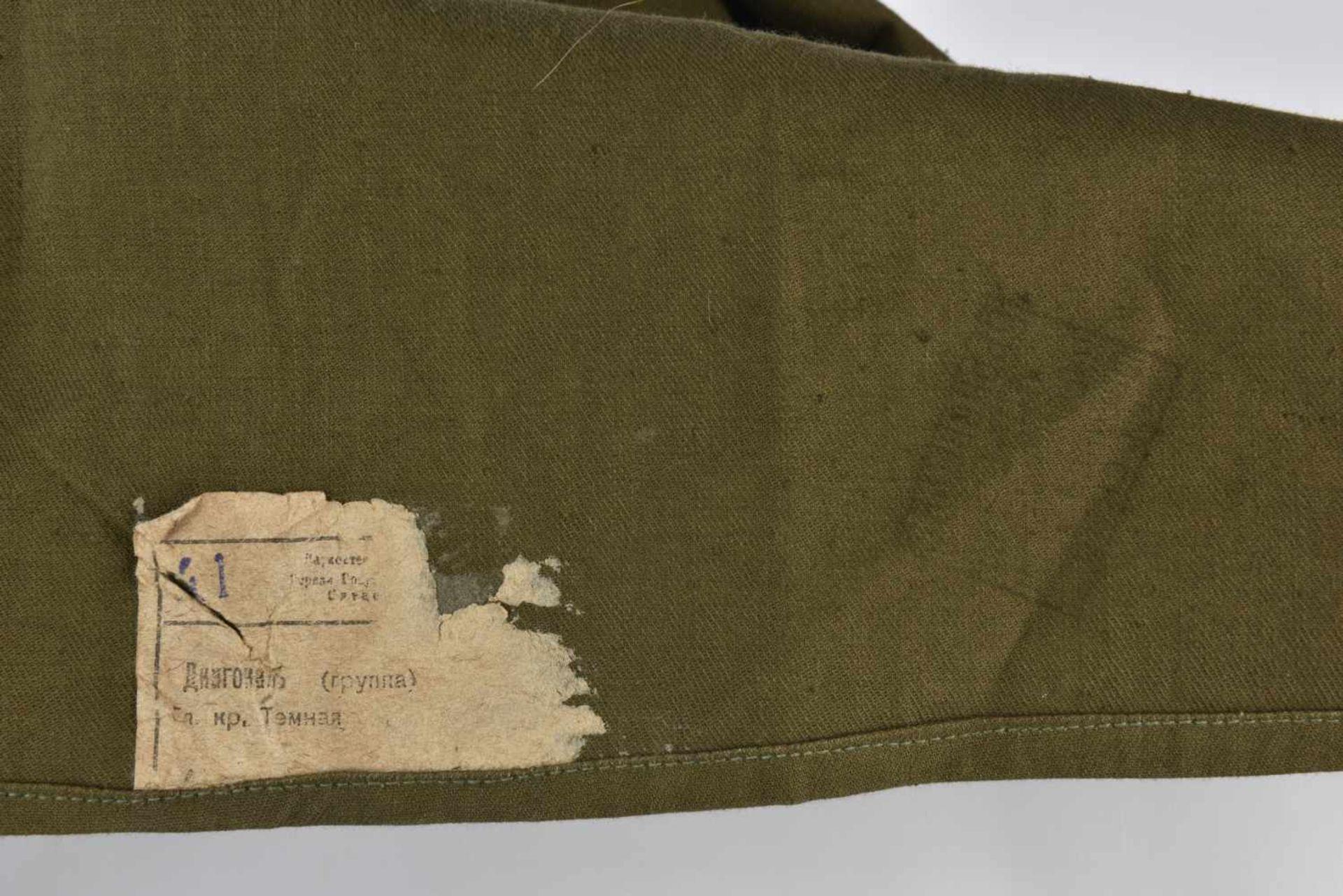 Gymnasterka M.43 modèle sans poches, avec pattes de col d'un soldat de l'artillerie. Très belle et - Bild 2 aus 4