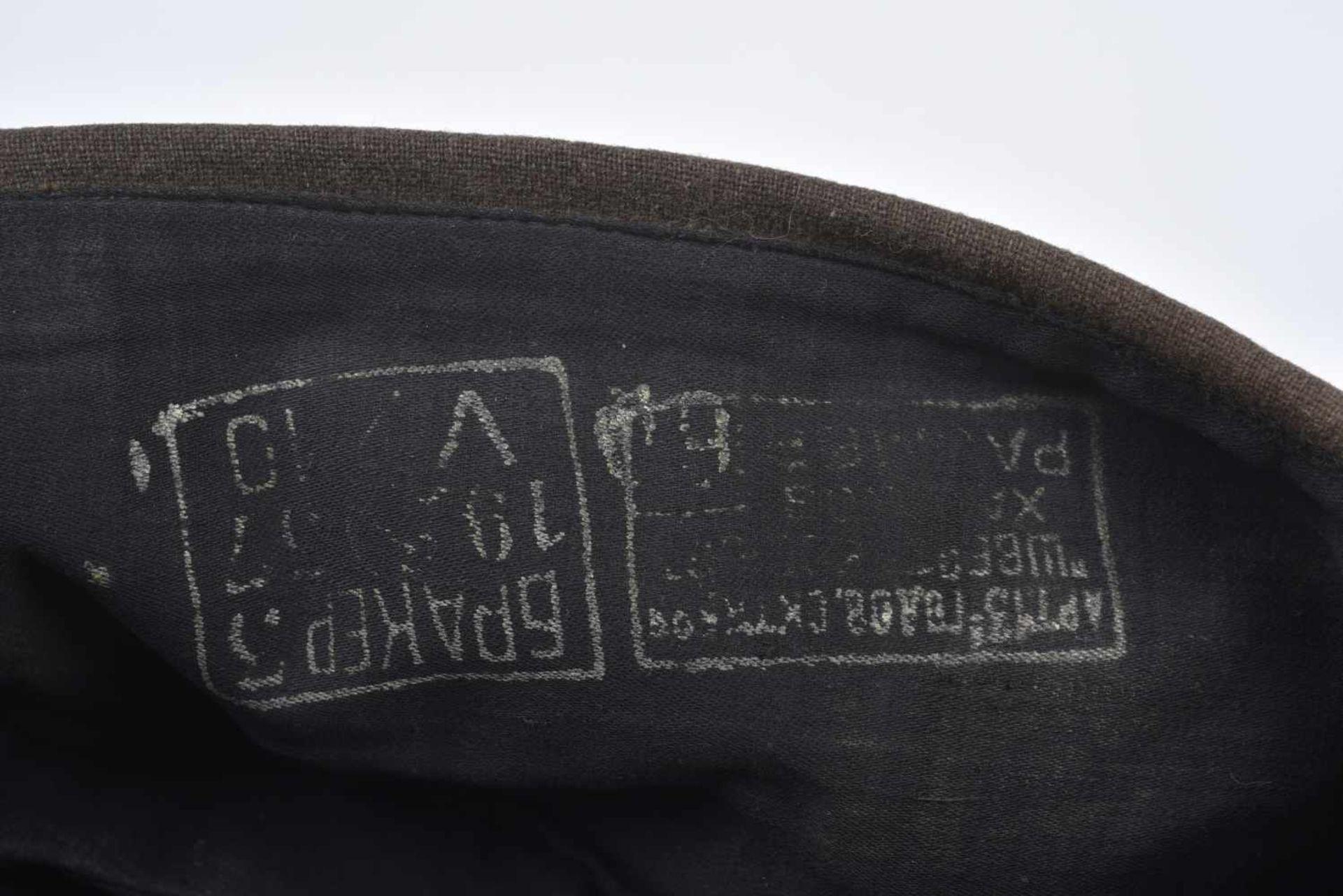 Los 1677 - Calot M.35 pour officier artillerie en laine Fabrication de 1937, avec absence d'étoile en tissu,