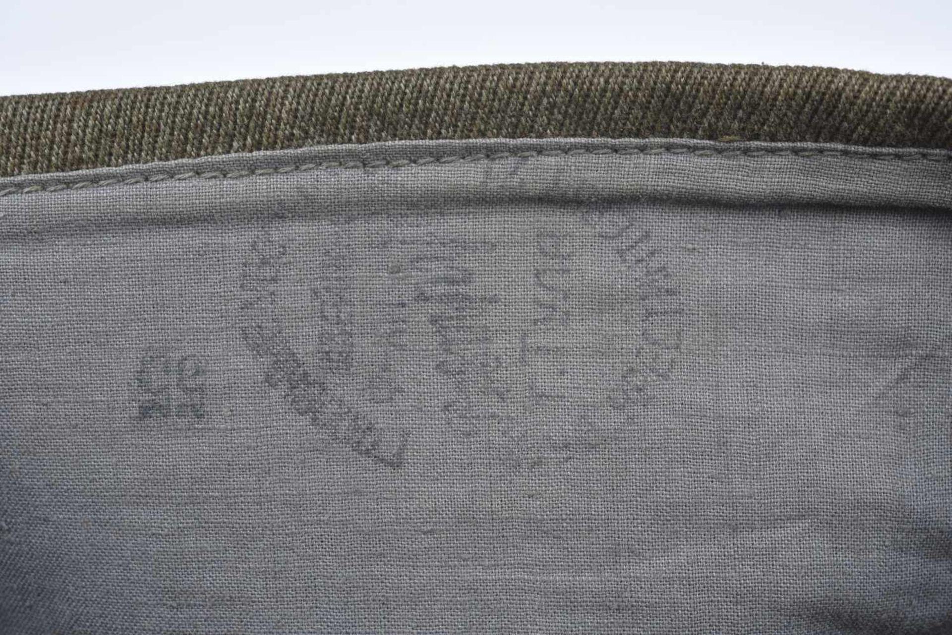 Calot M.35 pour officier infanterie en coton, fabrication avec absence d'étoile en tissu, étoile - Bild 2 aus 4
