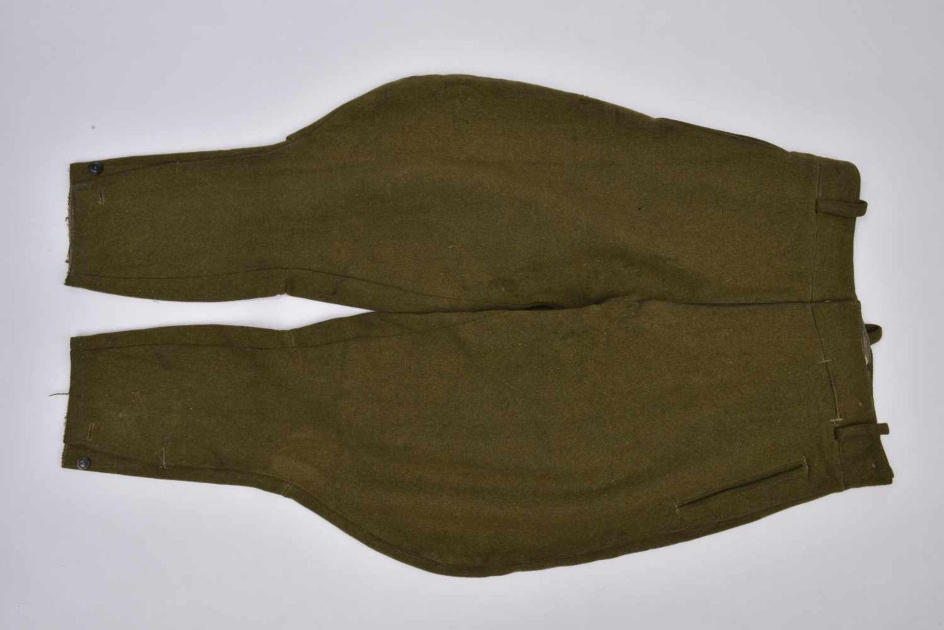 Culotte troupe M.35 hiver en laine Fabrication de guerre. Les poches ainsi que les renforts sont