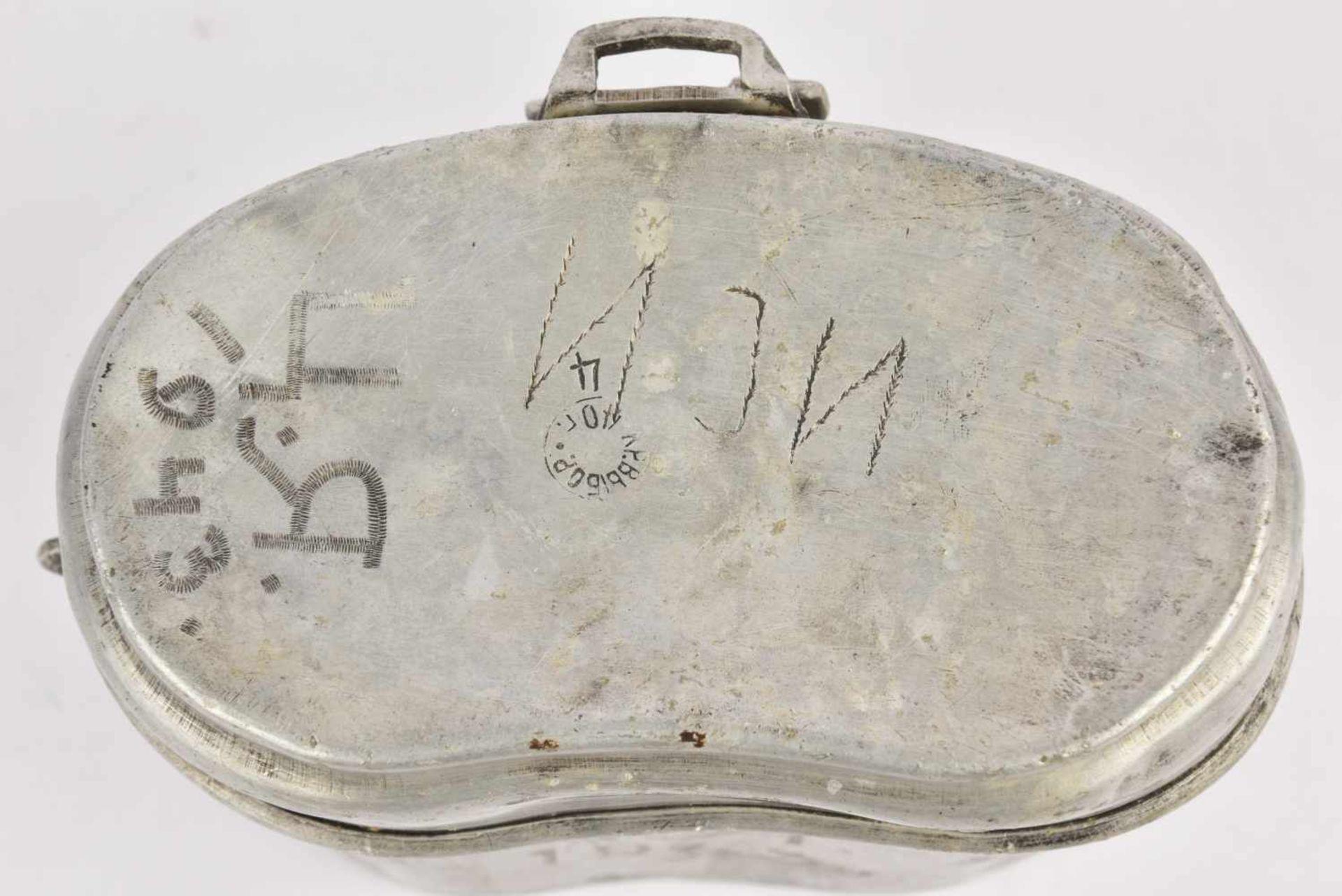 Gamelle M.36 datée 1940 avec inscription de 1943 (manque anse). Cette pièce provient de la - Bild 3 aus 4