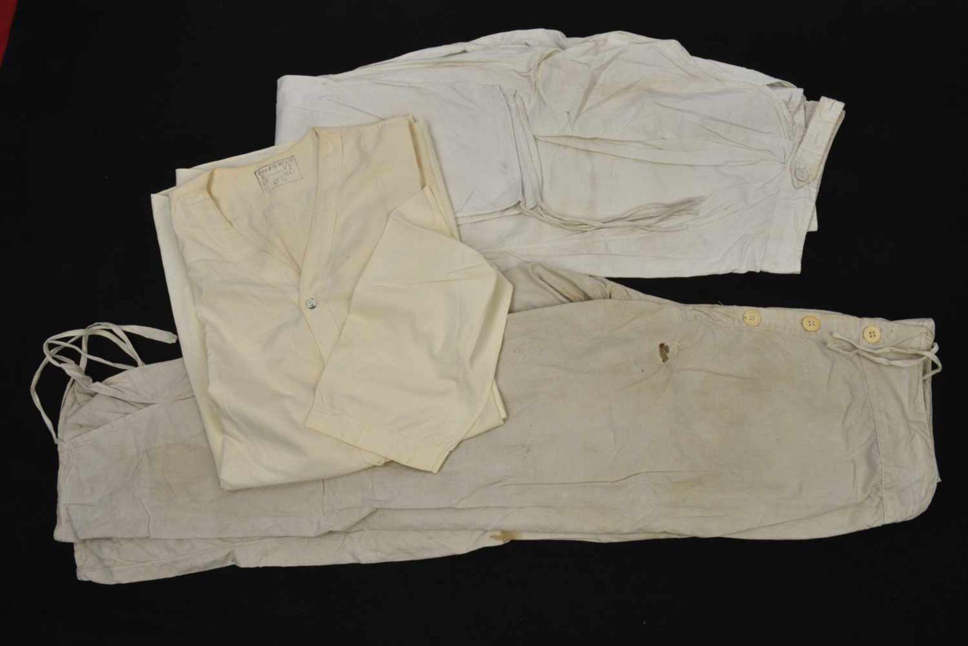 Sous vêtement été en coton comprenant le haut et bas, les deux pièces datées 1941, Neuve. On rajoute - Bild 2 aus 2