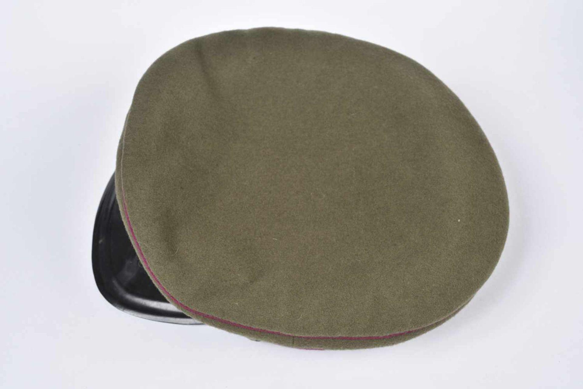 Casquette M.35 Infanterie bandeau et passepoil framboise, taille 57, coiffe souple, datée 1946. M.35 - Bild 4 aus 4