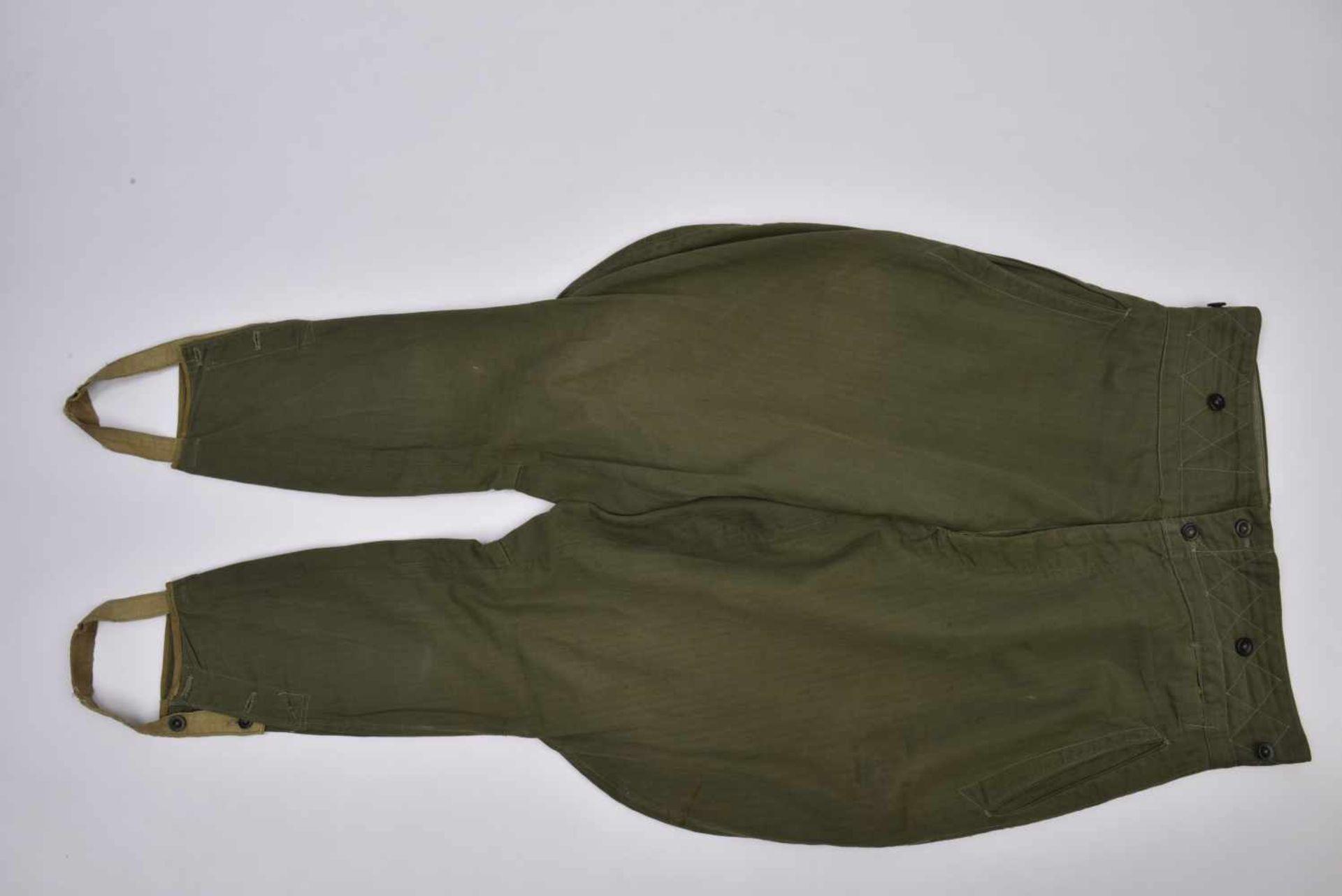 Culotte troupe M.35 en drap HBT exemplaire pratiquement neuf, RARE ! M.35 trousers in the HBT cloth.