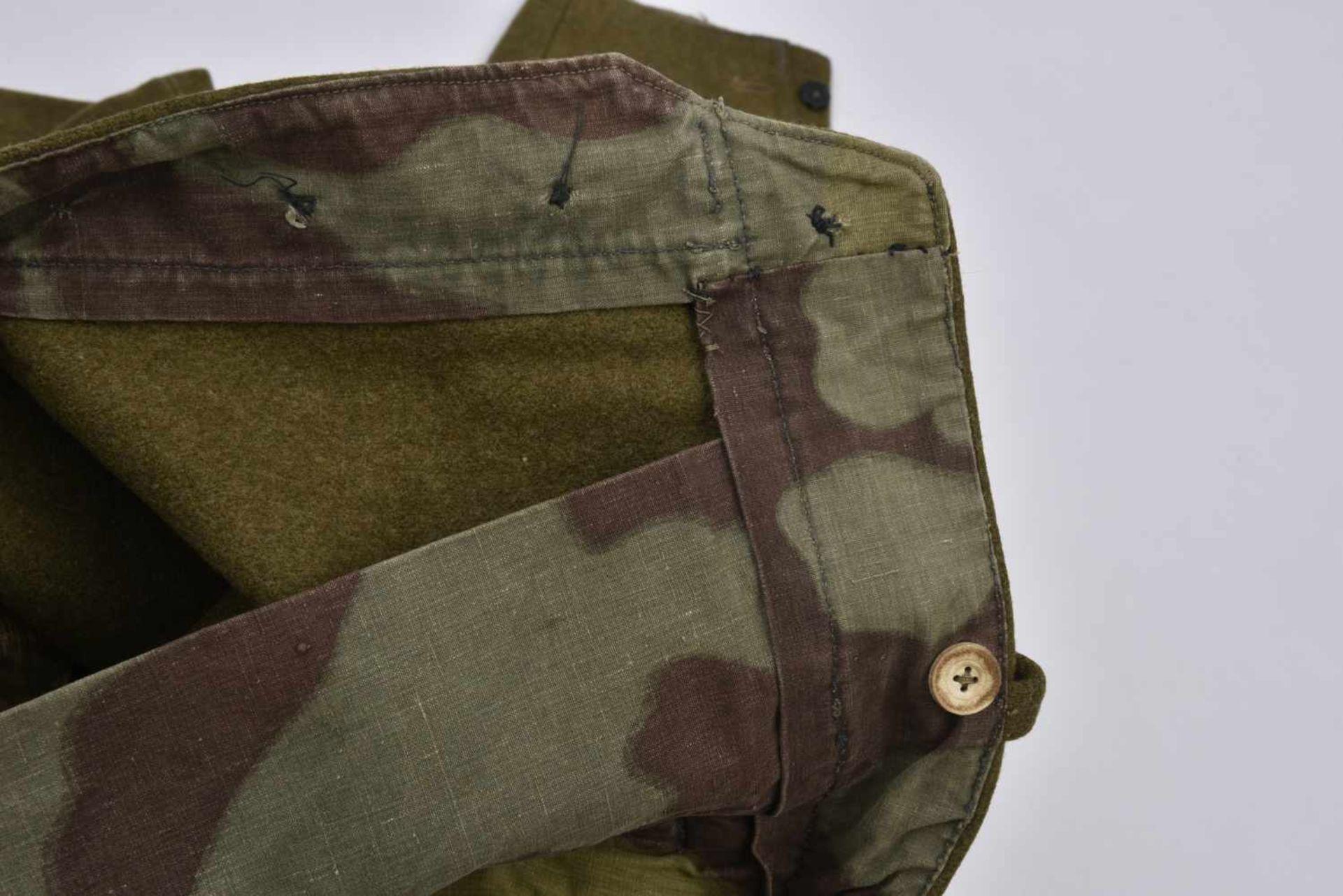 Culotte troupe M.35 hiver en laine Fabrication de guerre. Les poches ainsi que les renforts sont - Bild 3 aus 4