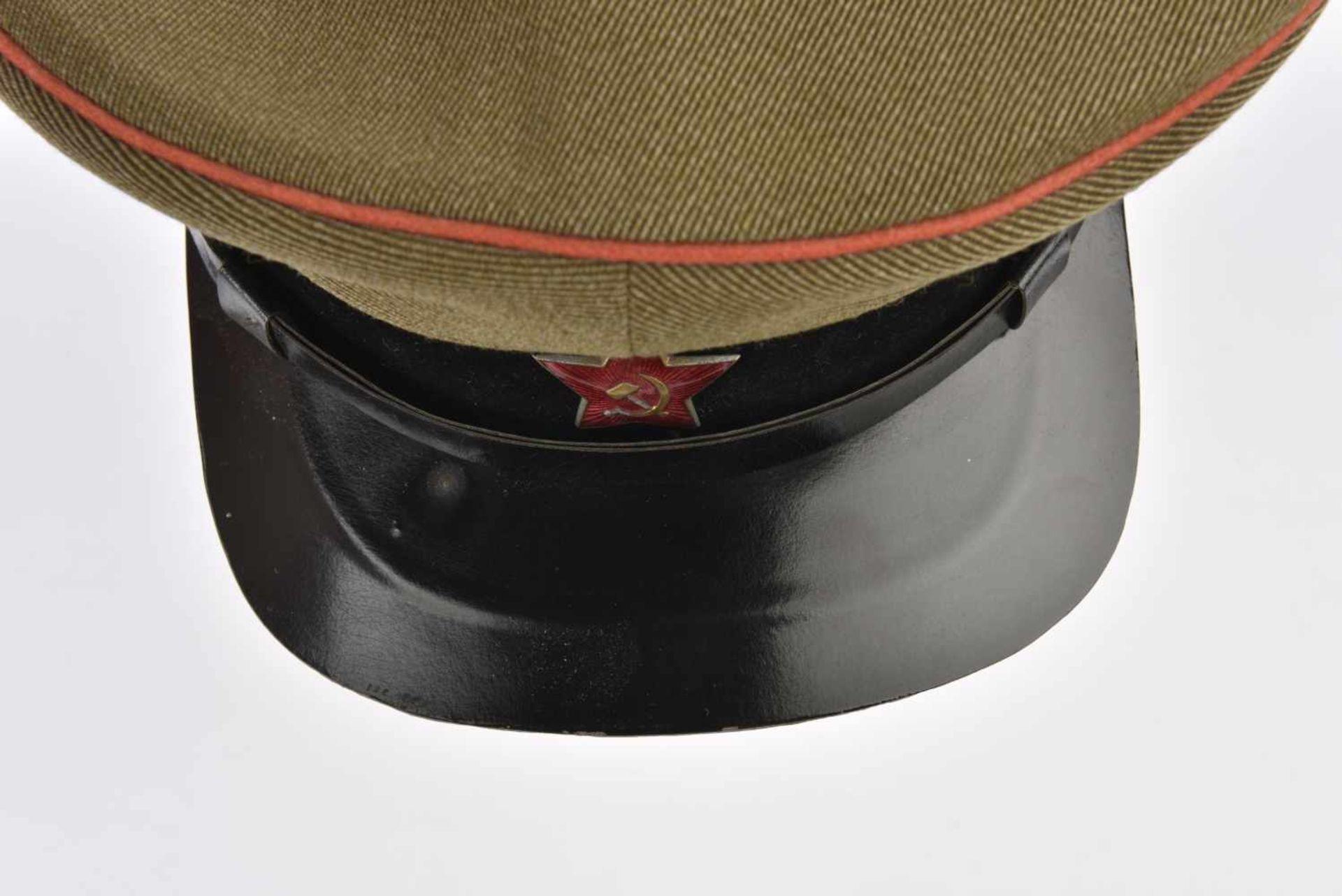 Casquette M.35 Artillerie bandeau velours noir et passepoil rouge, taille 57, fabrication - Bild 2 aus 4
