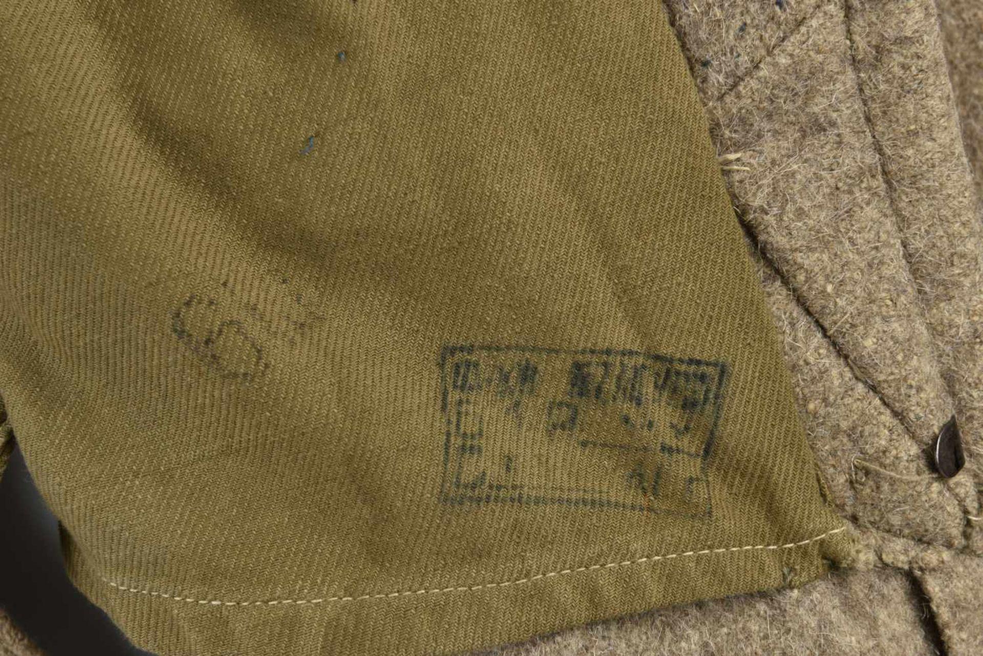 Capote Shinel M.35 avec pattes de col infanterie montée d'origine Bonne taille, pratiquement - Bild 3 aus 4