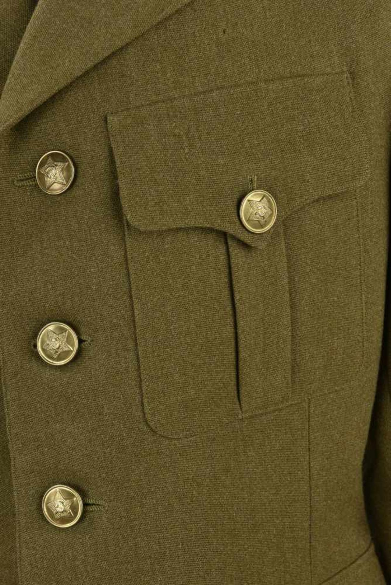 Vareuse French M.25 sans attributs. Bonne taille, complète et en TBE. French' jacket M.25, without - Bild 4 aus 4