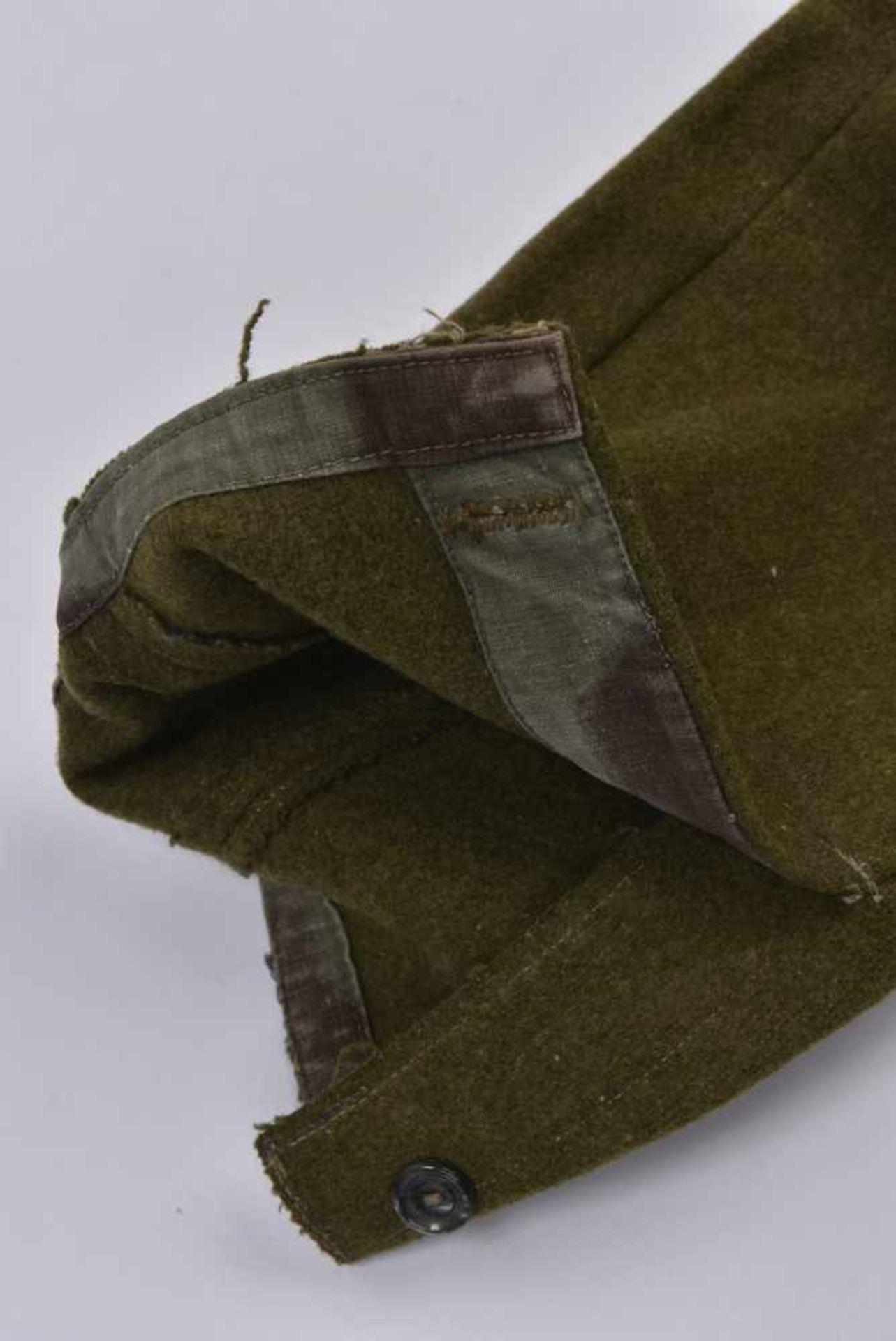 Culotte troupe M.35 hiver en laine Fabrication de guerre. Les poches ainsi que les renforts sont - Bild 2 aus 4