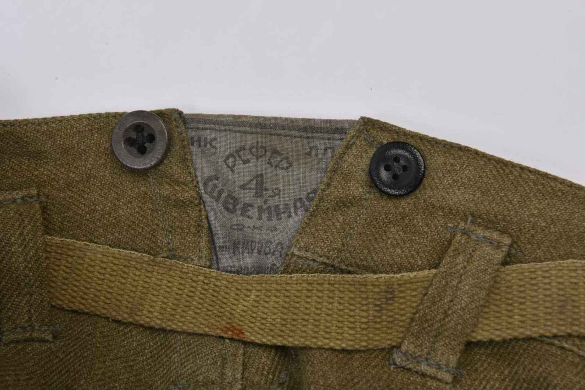 Los 1722 - Culotte troupe M.35 datée 1941 avec sa petite ceinture de serrage. Bel état, bonne taille. Rare.