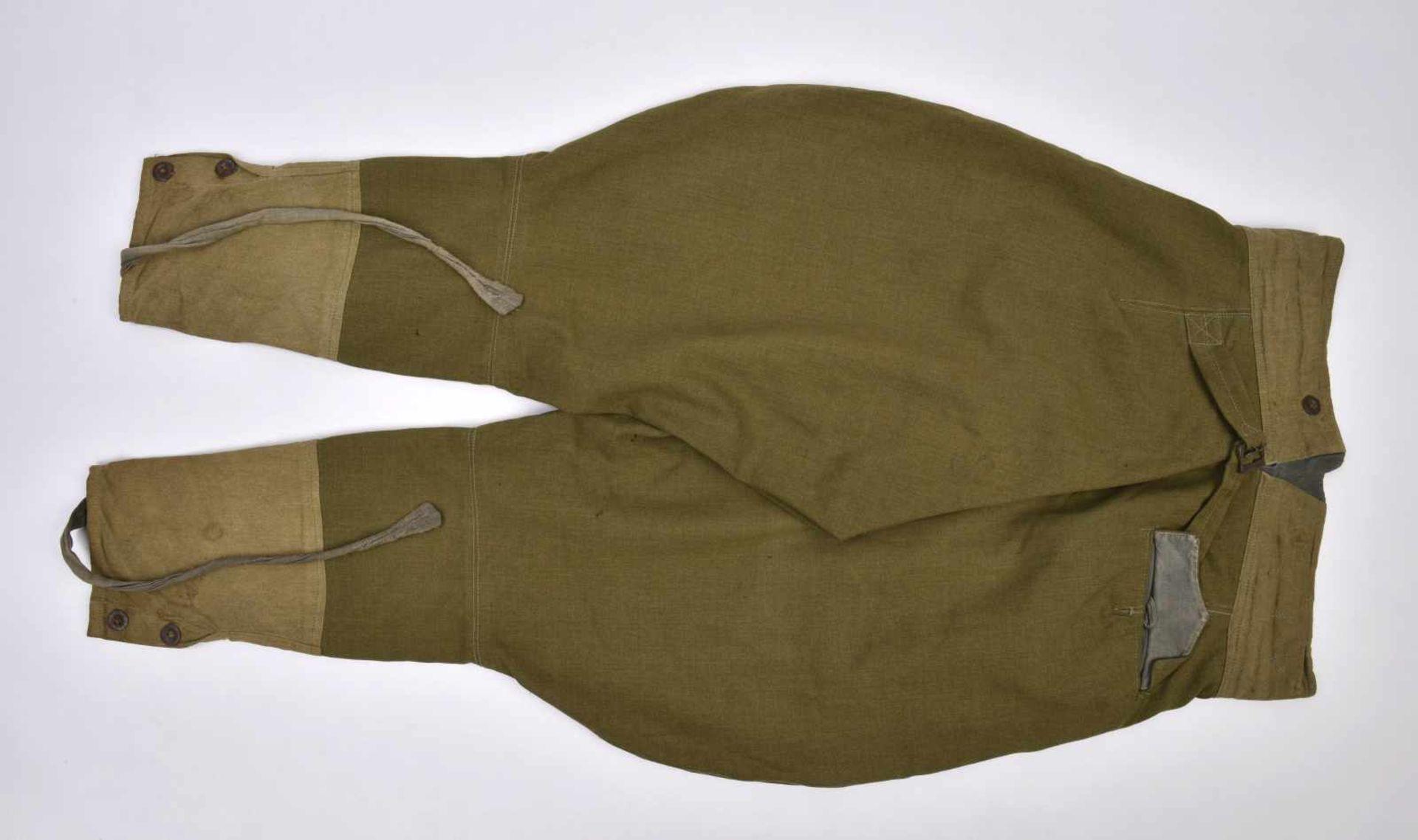 Culotte troupe M.35 en drap lend-lease Bonne taille, quelques petits accrocs. M.35 trousers in the - Bild 4 aus 4