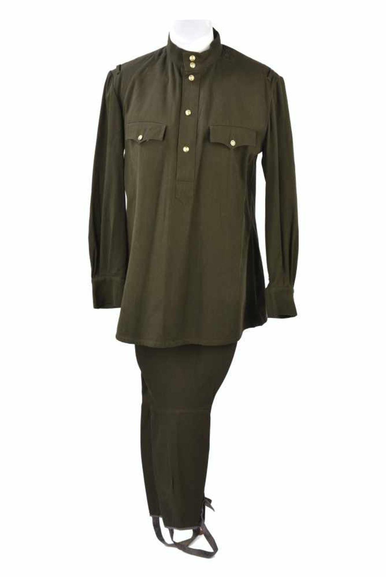 Ensemble NEUF comprenant Gymnasterka M.43 avec poches de poitrine,très belle et culotte. Les deux