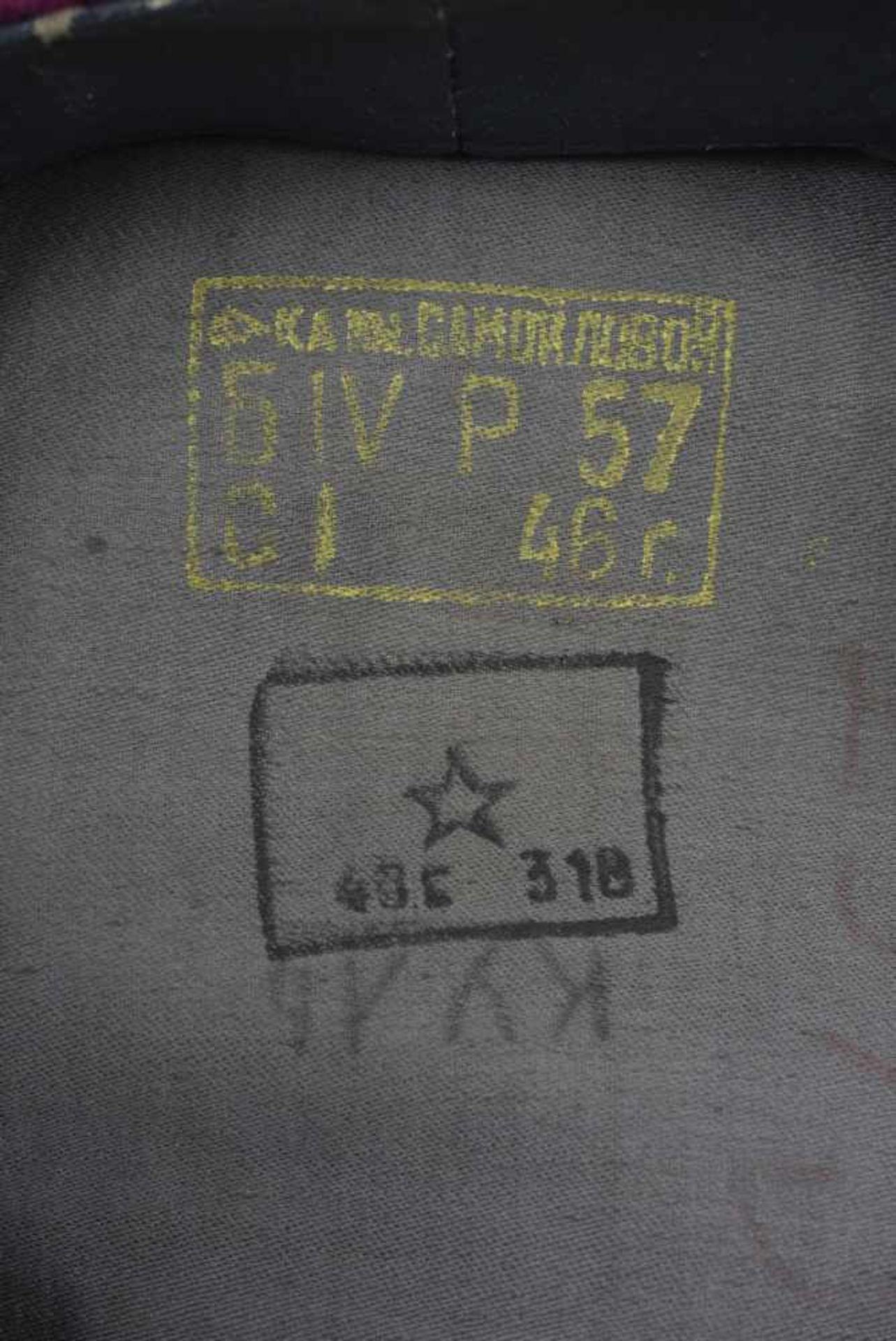 Casquette M.35 Infanterie bandeau et passepoil framboise, taille 57, coiffe souple, datée 1946. M.35 - Bild 2 aus 4