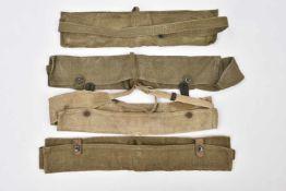 Lot de 4 cartouchières ventrales datée 1942, 2 datées 44 et une sans marquage. Cette pièce