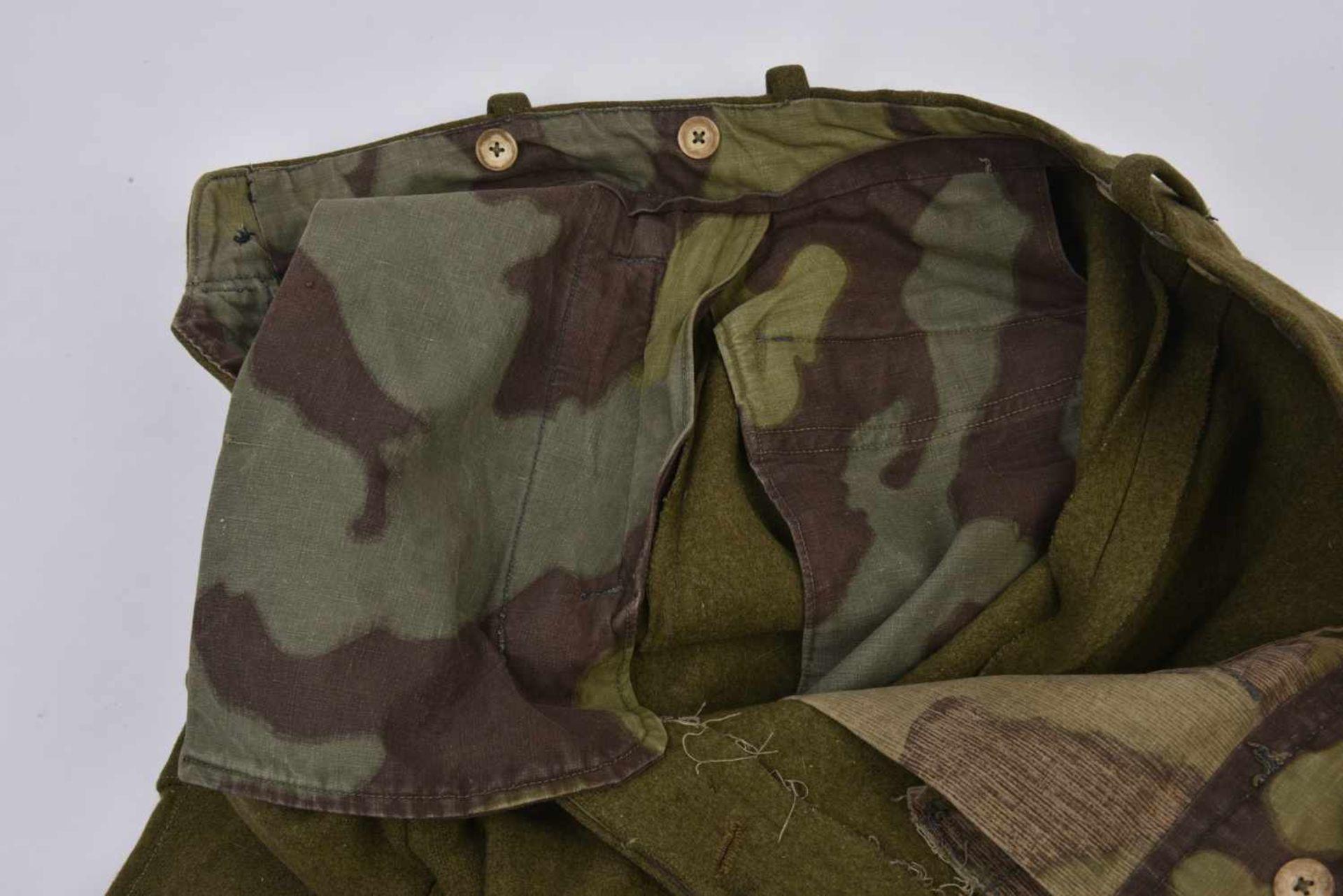Culotte troupe M.35 hiver en laine Fabrication de guerre. Les poches ainsi que les renforts sont - Bild 4 aus 4