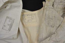 Sous vêtement été en coton comprenant le haut et bas, les deux pièces datées 1941, Neuve. On rajoute