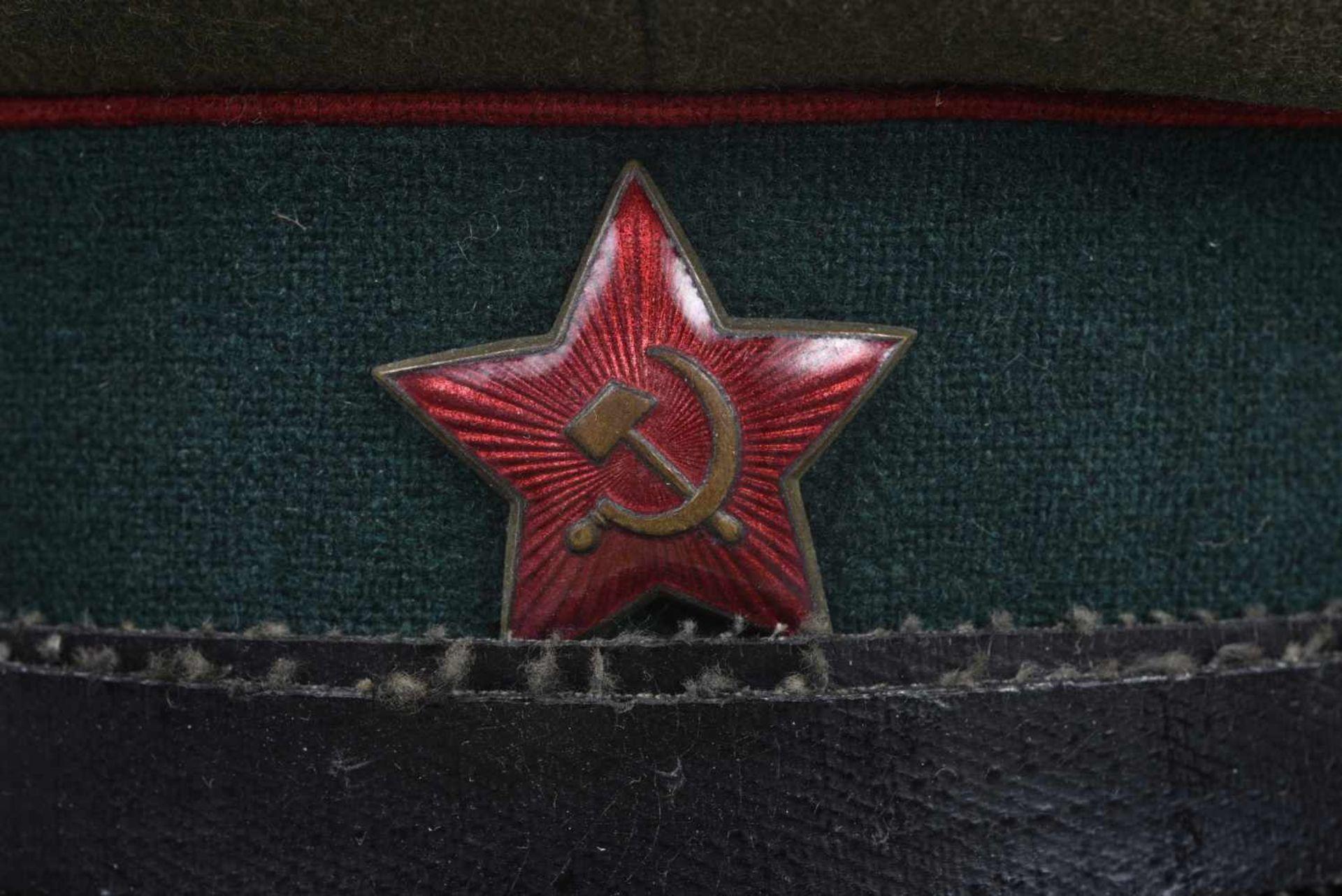 Casquette M.35 Service médical bandeau vert, passepoil rouge, taille 57/58, très belle, une des - Bild 4 aus 4