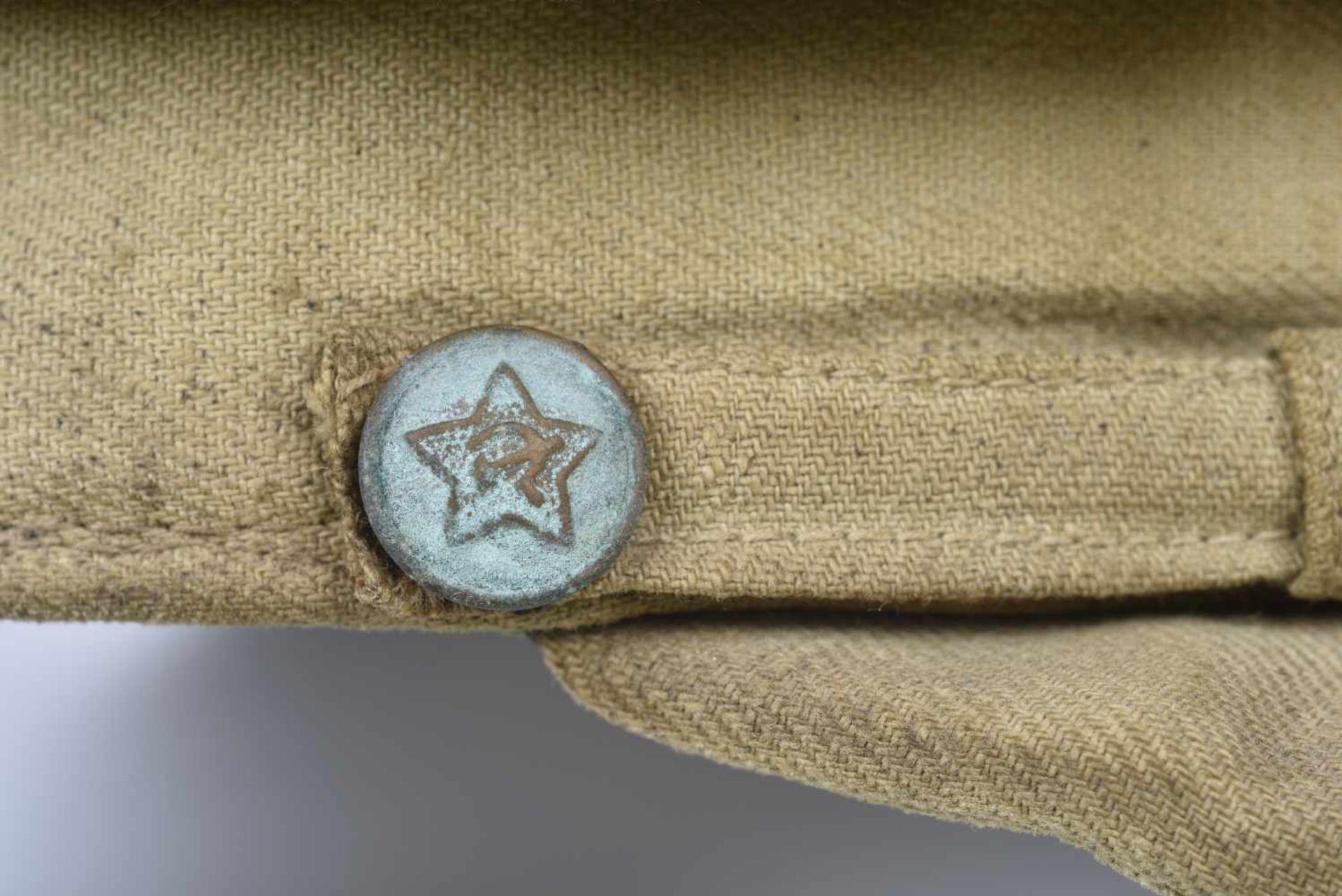 Casquette combat en toile modèle avant-guerre, étoile verte (régulation de août 1941), jugulaire - Bild 4 aus 4