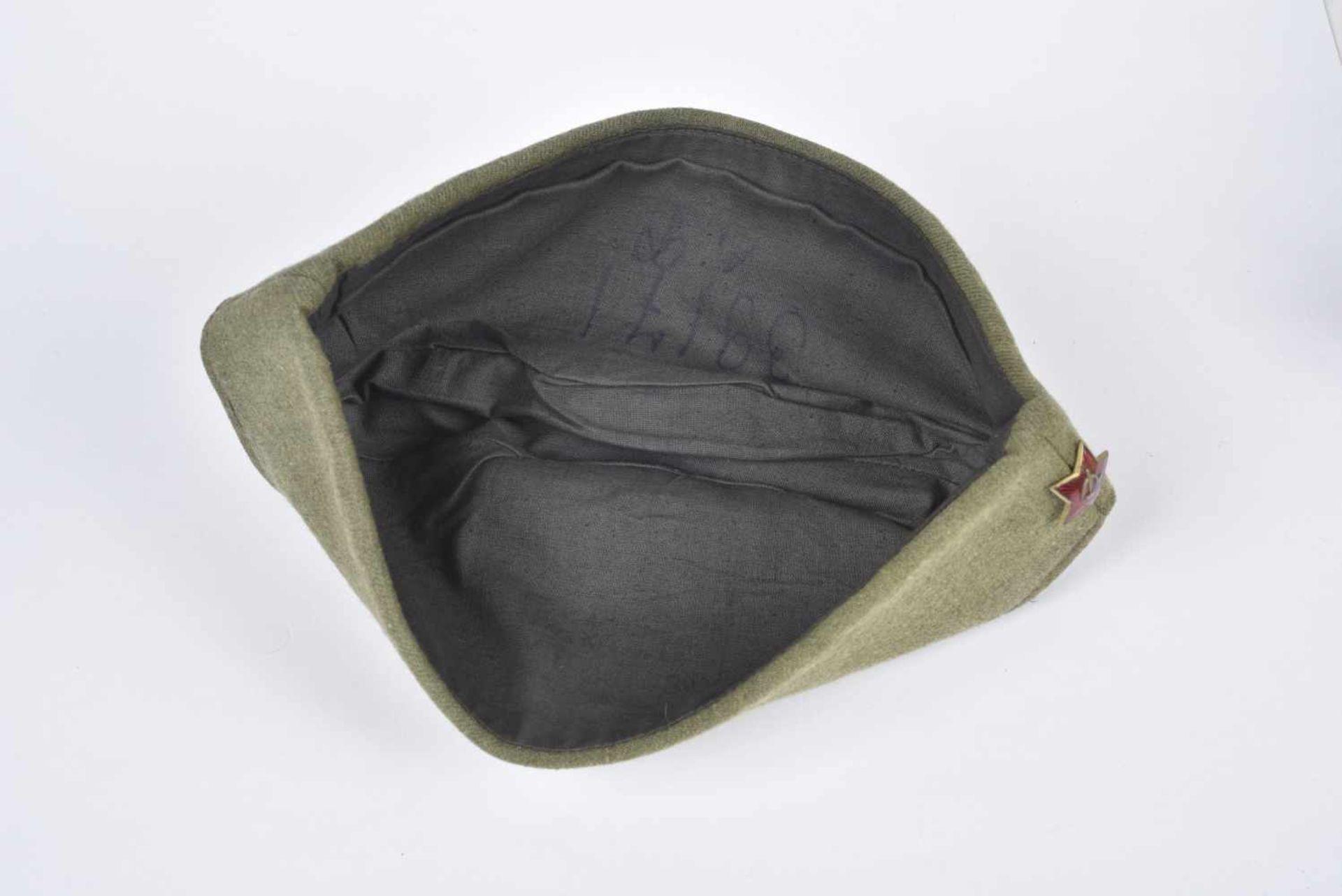 Calot M.35 reconnaissable au tissu laineux couramment utilisé dans les années 30. Etoile rouge en 24 - Bild 4 aus 4
