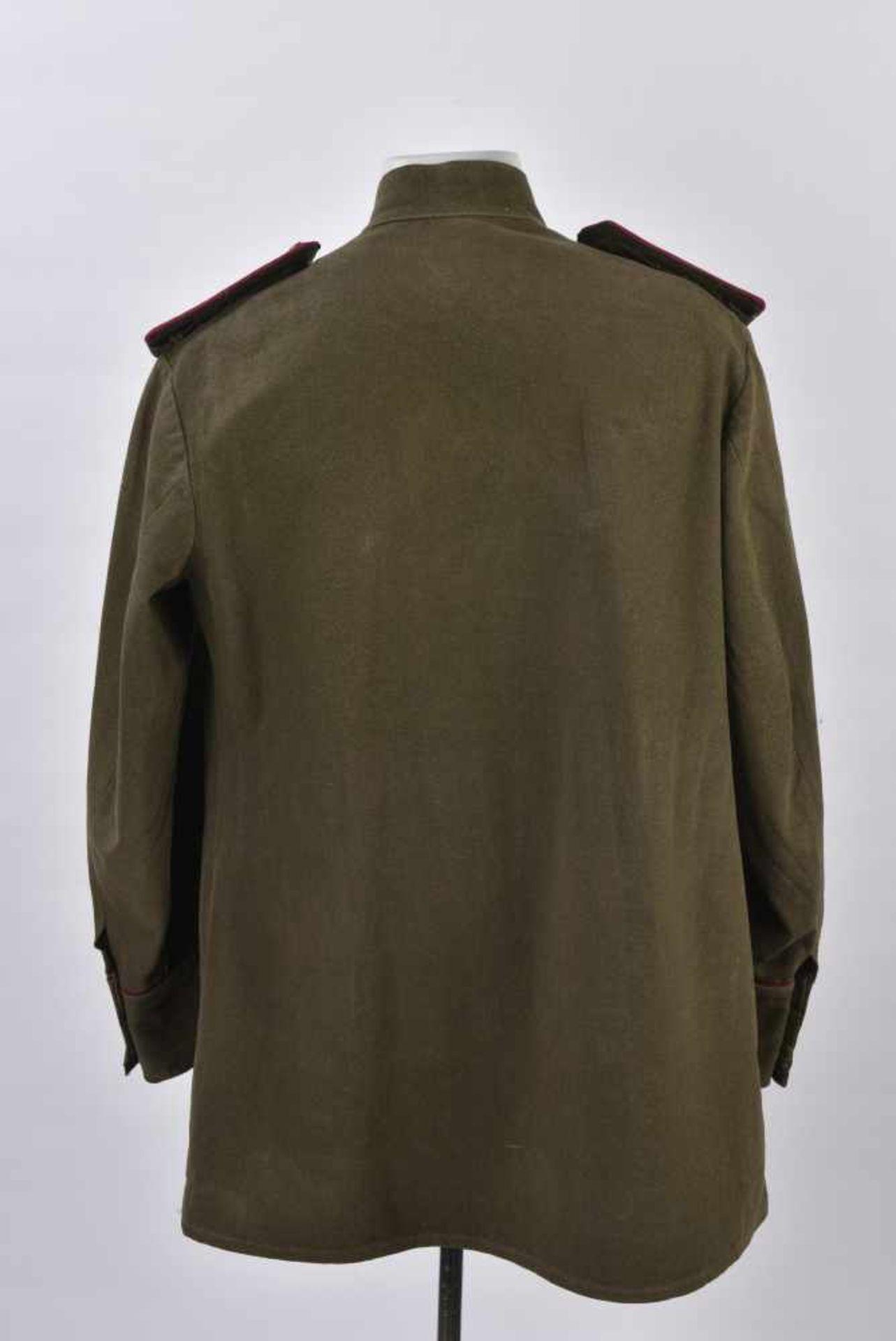 Gymnasterka M.35/43 d'un Colonel de l'infanterie Le col rabattu a été modifié en col droit, - Bild 2 aus 4