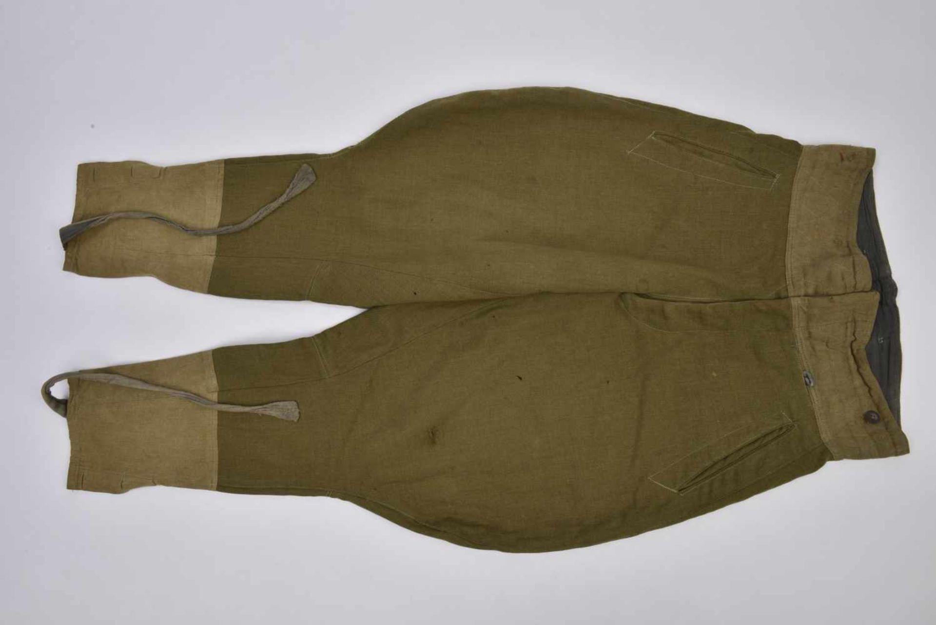 Culotte troupe M.35 en drap lend-lease Bonne taille, quelques petits accrocs. M.35 trousers in the