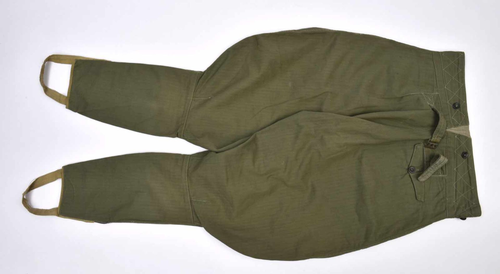 Culotte troupe M.35 en drap HBT exemplaire pratiquement neuf, RARE ! M.35 trousers in the HBT cloth. - Bild 4 aus 4