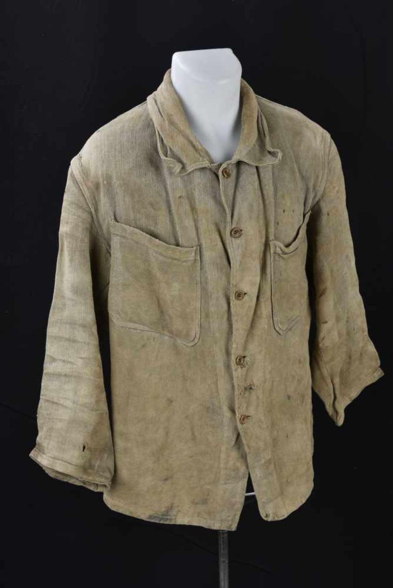 Veste de corvée en grosse toile. Datée 1938. Work jacket, in canvas. Dated 1938. Cette pièce - Bild 4 aus 4