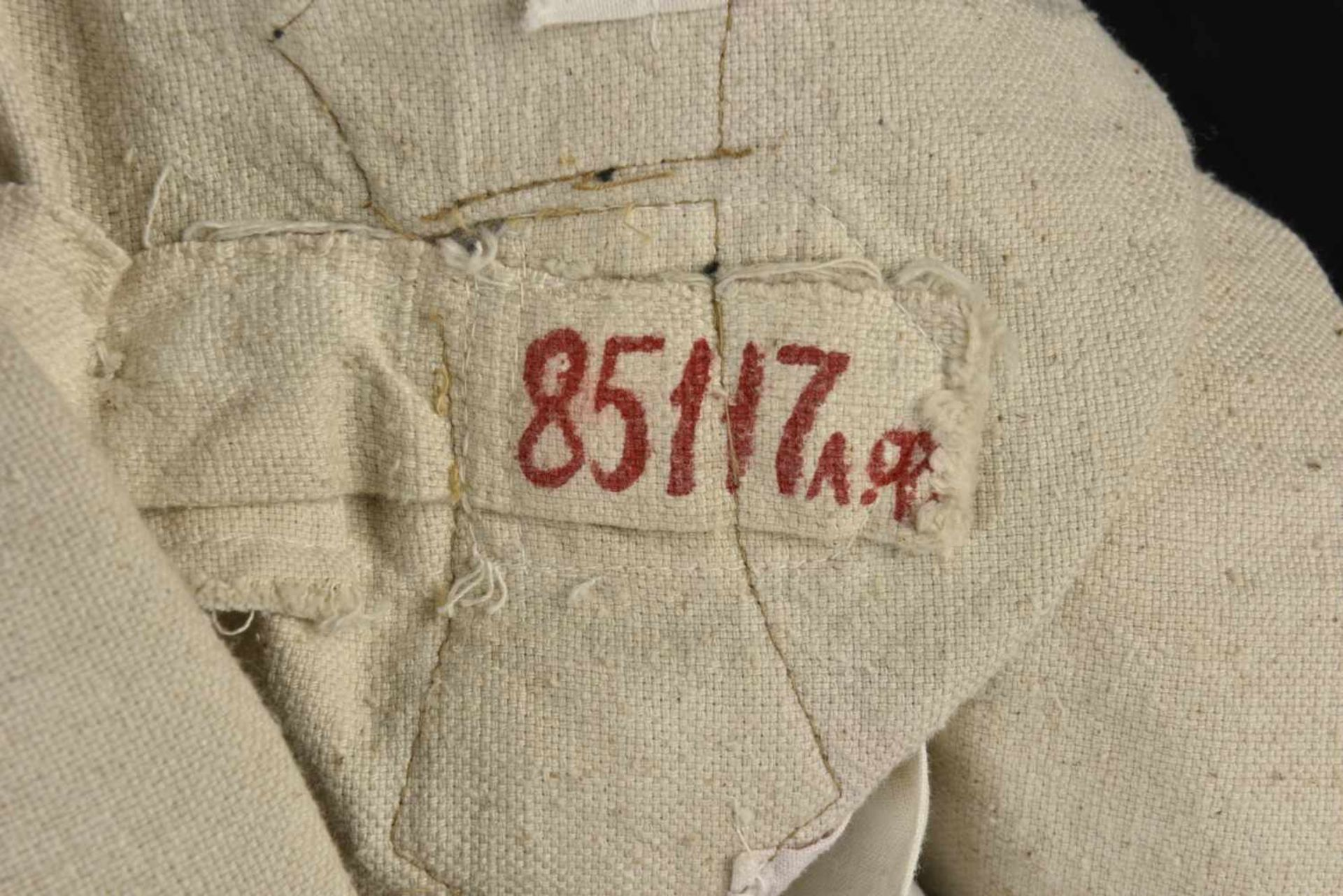 Gymnasterka M.22 des transmissions blanche, avec ses pattes de col, parements de poitrine, insigne - Bild 2 aus 4