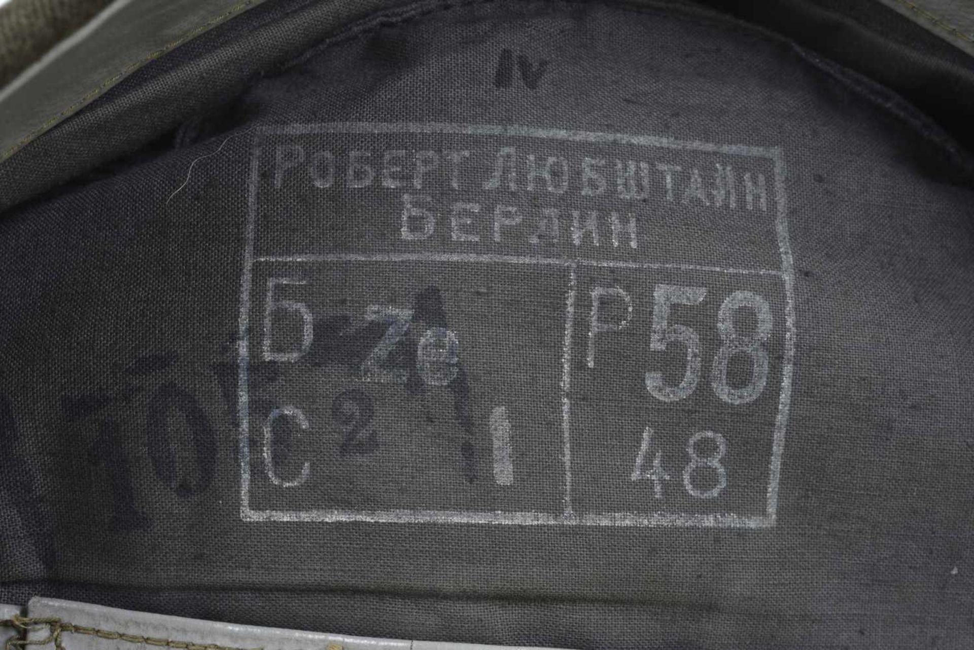 Magnifique calot passepoilé pour officier du NKVD passepoil framboise étoile tissu rouge brique. - Bild 3 aus 4