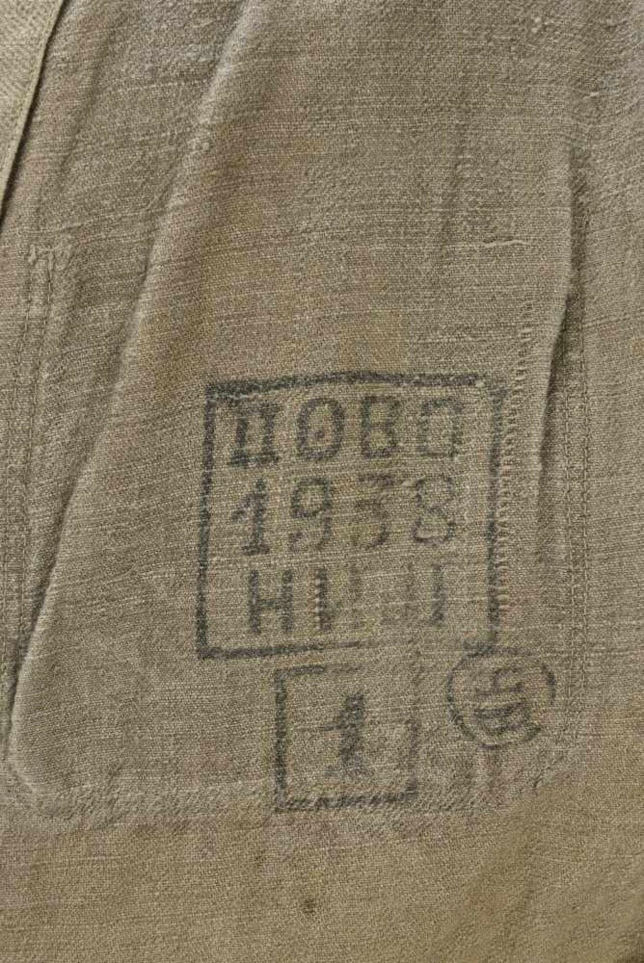 Veste de corvée en grosse toile. Datée 1938. Work jacket, in canvas. Dated 1938. Cette pièce - Bild 2 aus 4