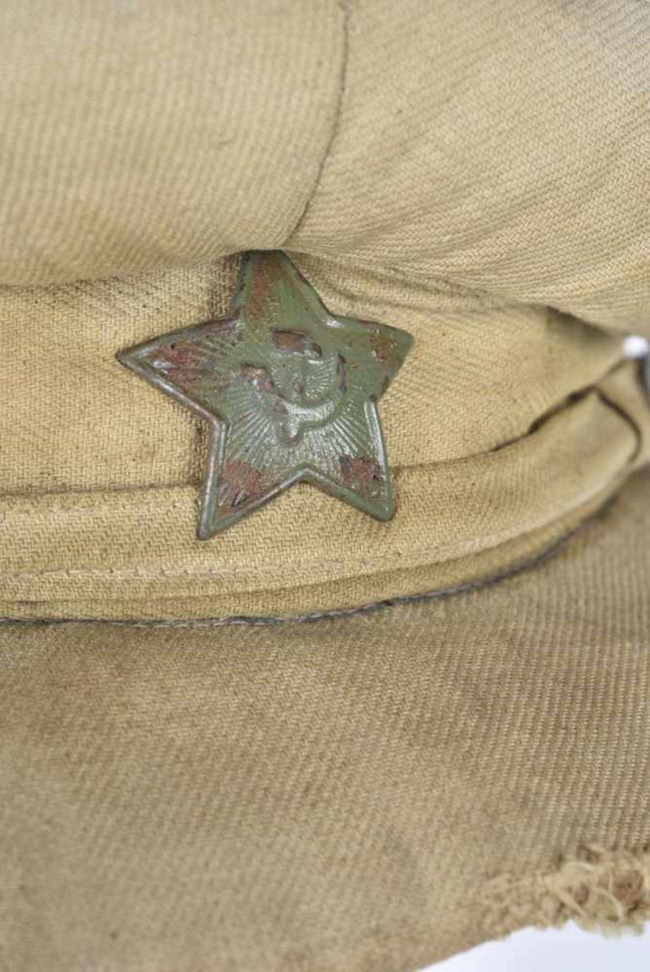 Casquette combat en toile modèle avant-guerre, étoile verte (régulation de août 1941), jugulaire - Bild 2 aus 4