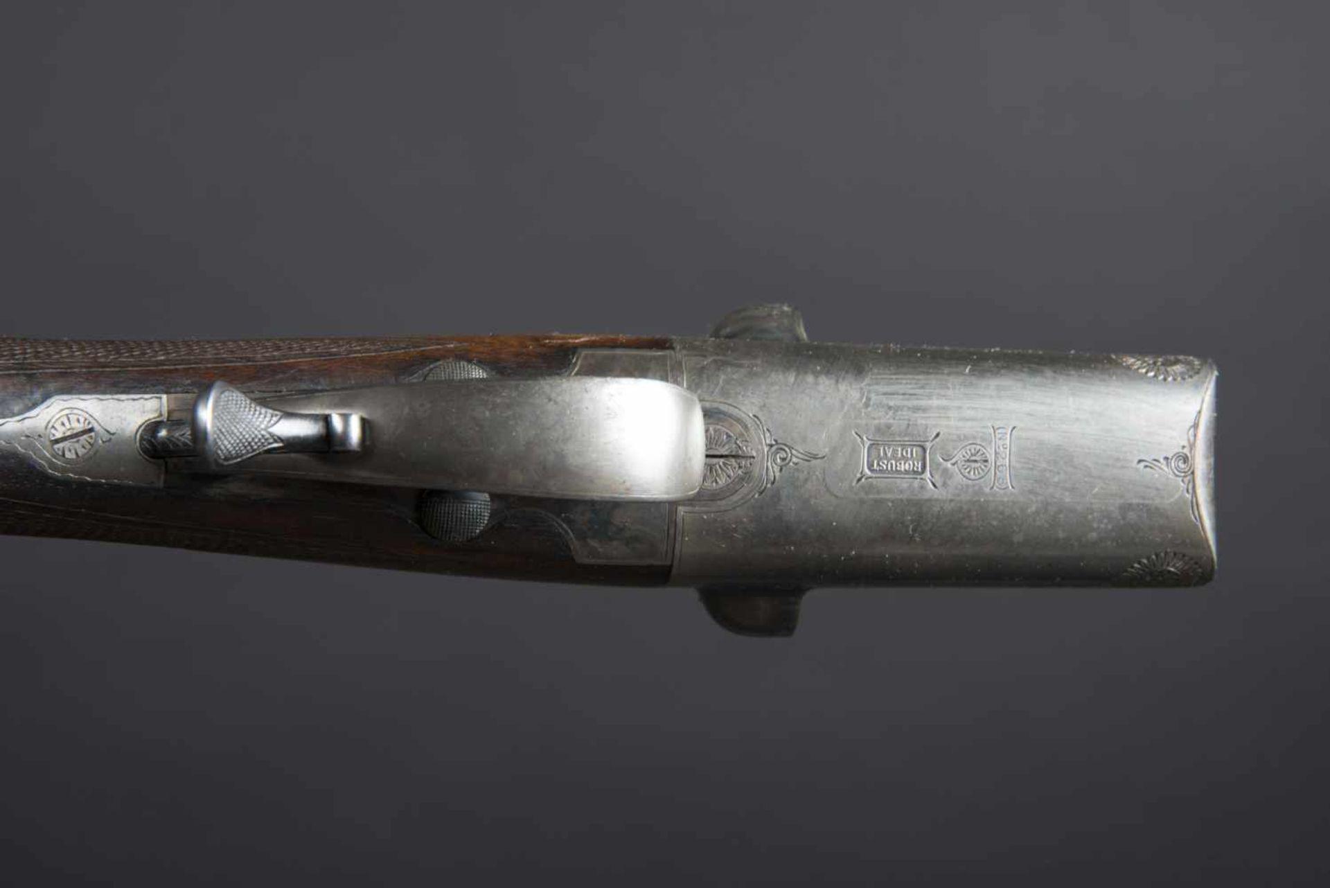 Fusil Robust Ideal Catégorie C Numéro 268. Etiquette présente dans la housse en cuir. Calibre 12. - Bild 3 aus 4