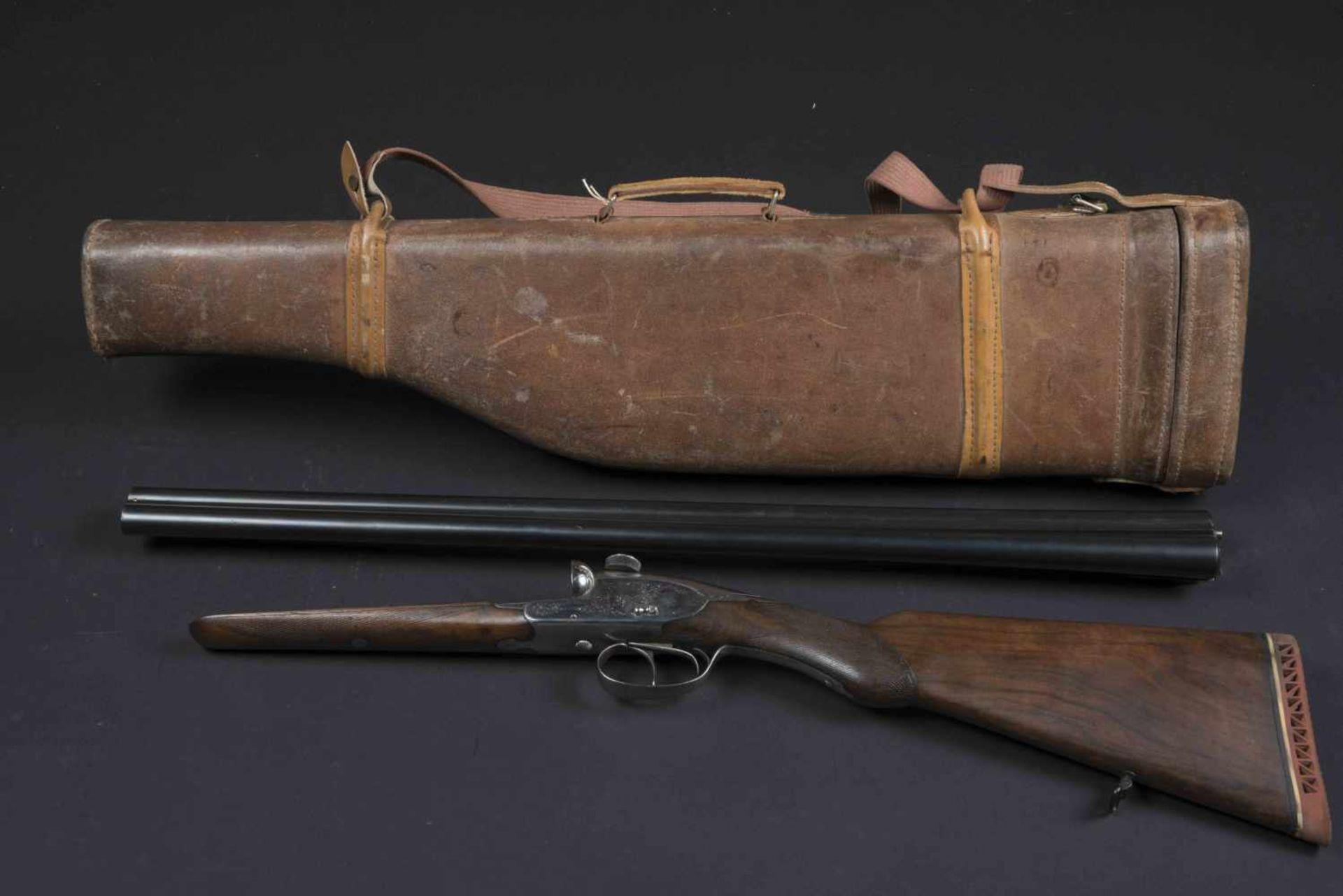 Fusil de chasse Charlin Catégorie C Plaque de couche en caoutchouc, parties métalliques ciselées.