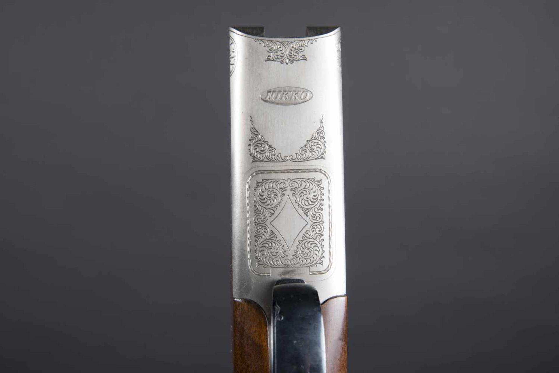 Fusil juxtaposé Nikko 5000 Catégorie C Calibre 12, numéro K63518. Carton non au modèle de l'arme. - Bild 3 aus 3