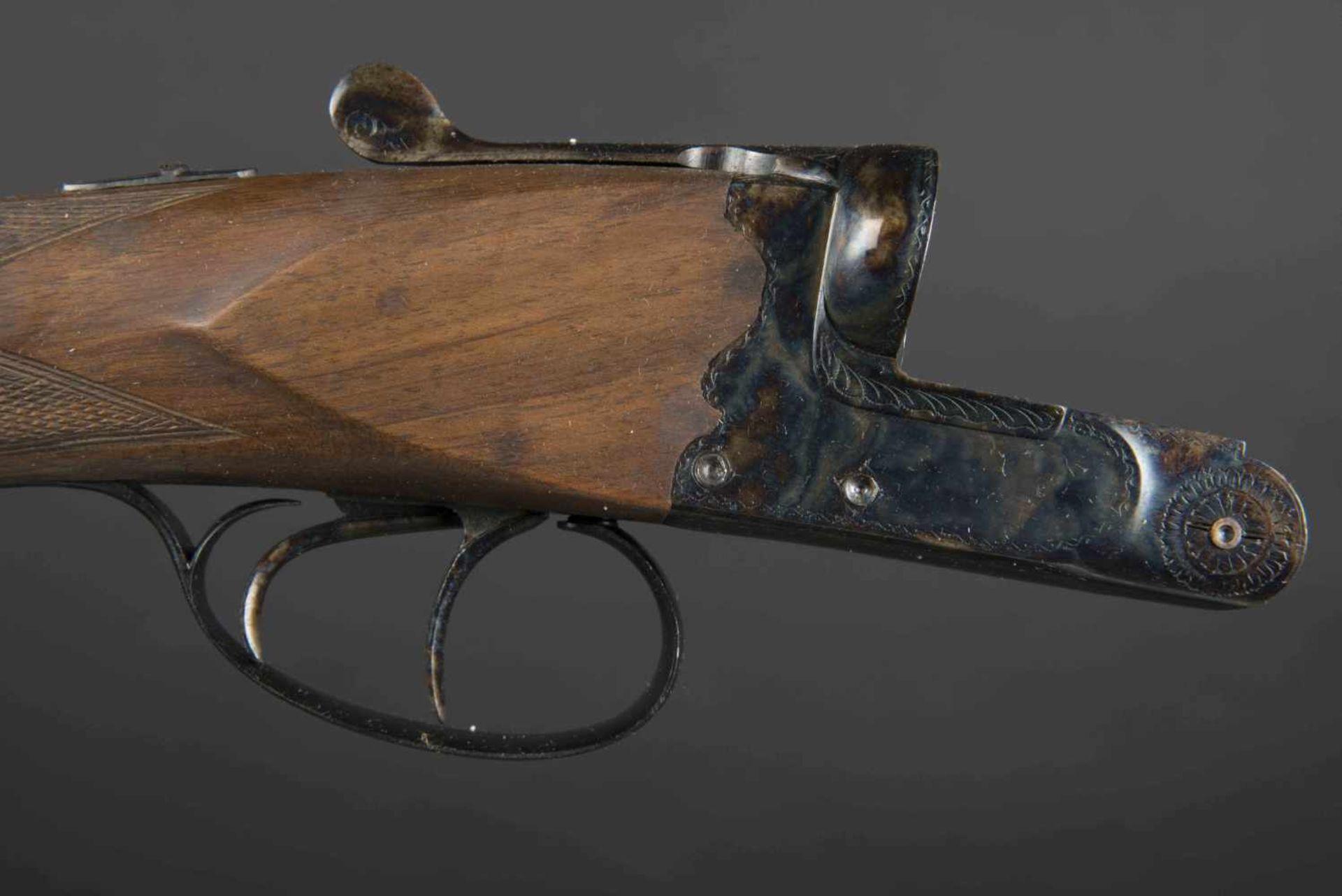 Fusil juxtaposé modèle artisanal Catégorie C Calibre 12, numéro M1374, certificat du Banc d' - Bild 2 aus 3