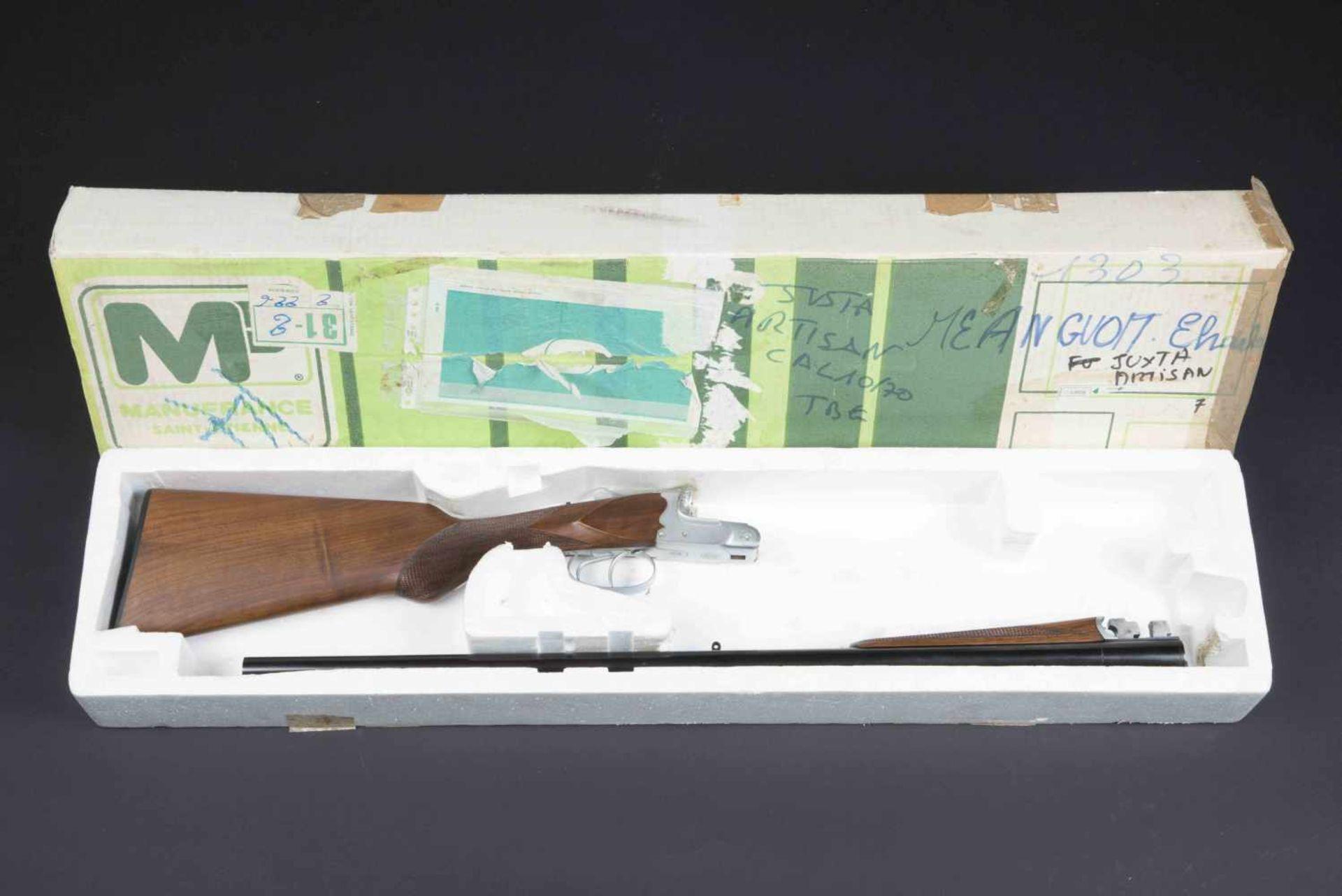 Fusil juxtaposé modèle artisanal Catégorie C Calibre 10/70. Numéro 4207. Canon acier au Creuset.
