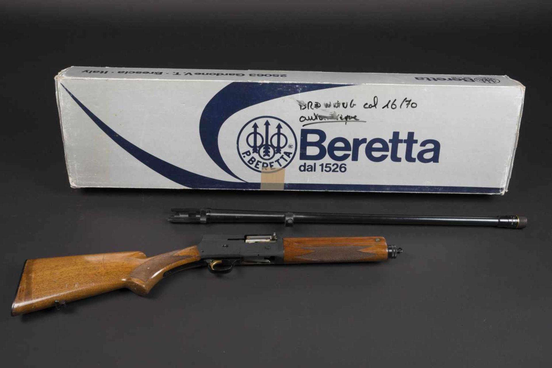 Fusil Browning automatique Catégorie C Calibre 16/70, numéro 2022168, canons M63098. Fabrication