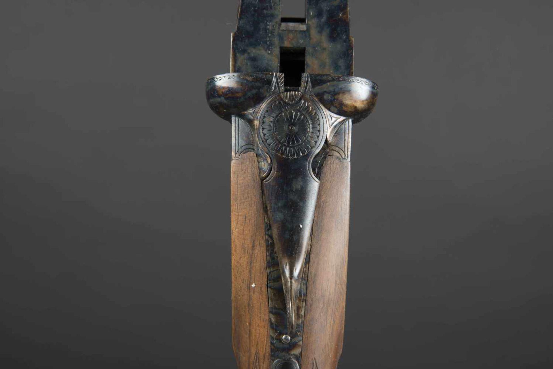 Fusil juxtaposé modèle artisanal Catégorie C Calibre 12, numéro M1374, certificat du Banc d' - Bild 3 aus 3