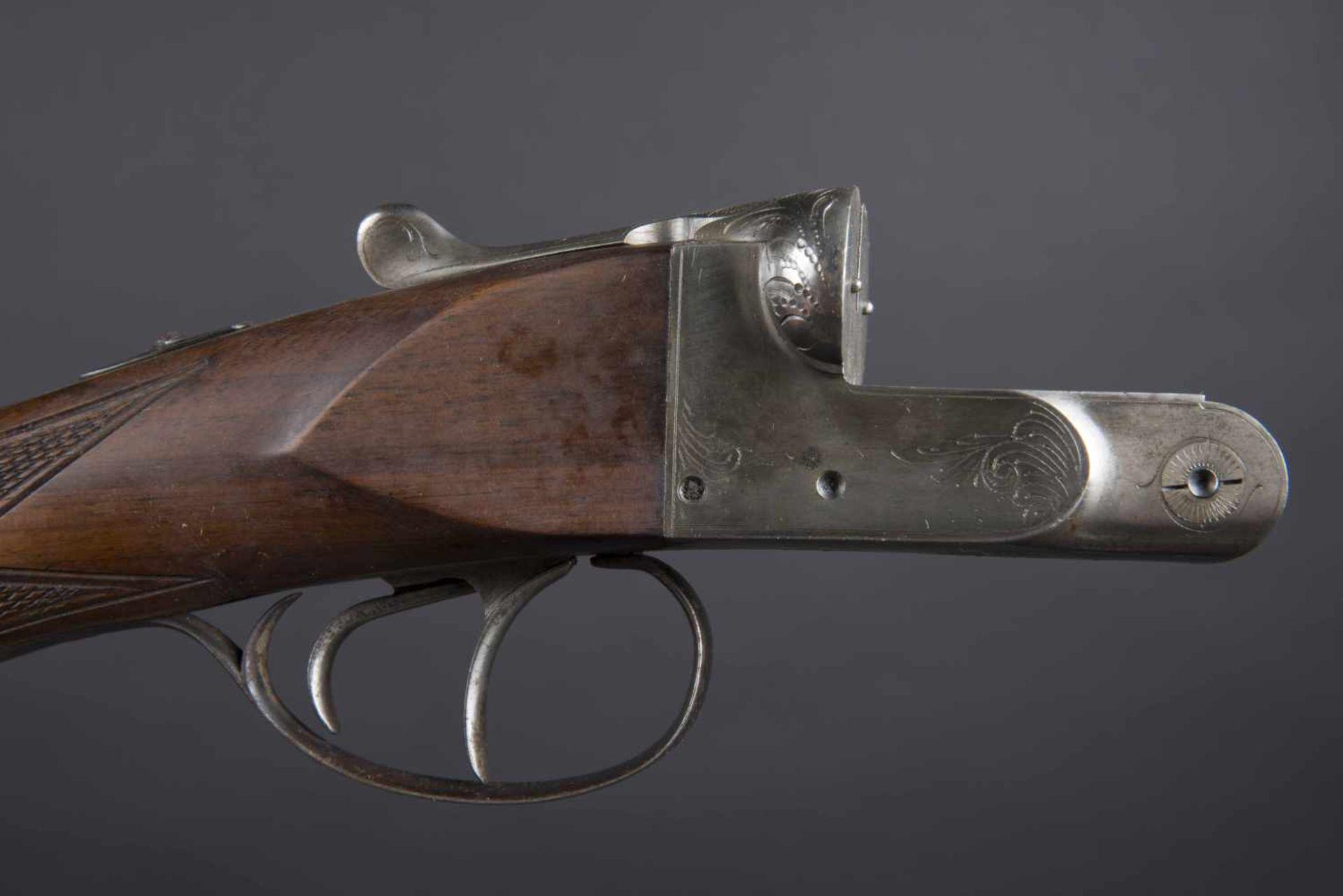 Fusil juxtaposé modèle artisanal Catégorie C Calibre 16/65. Numéro 138638. Carton non au modèle de - Bild 2 aus 4