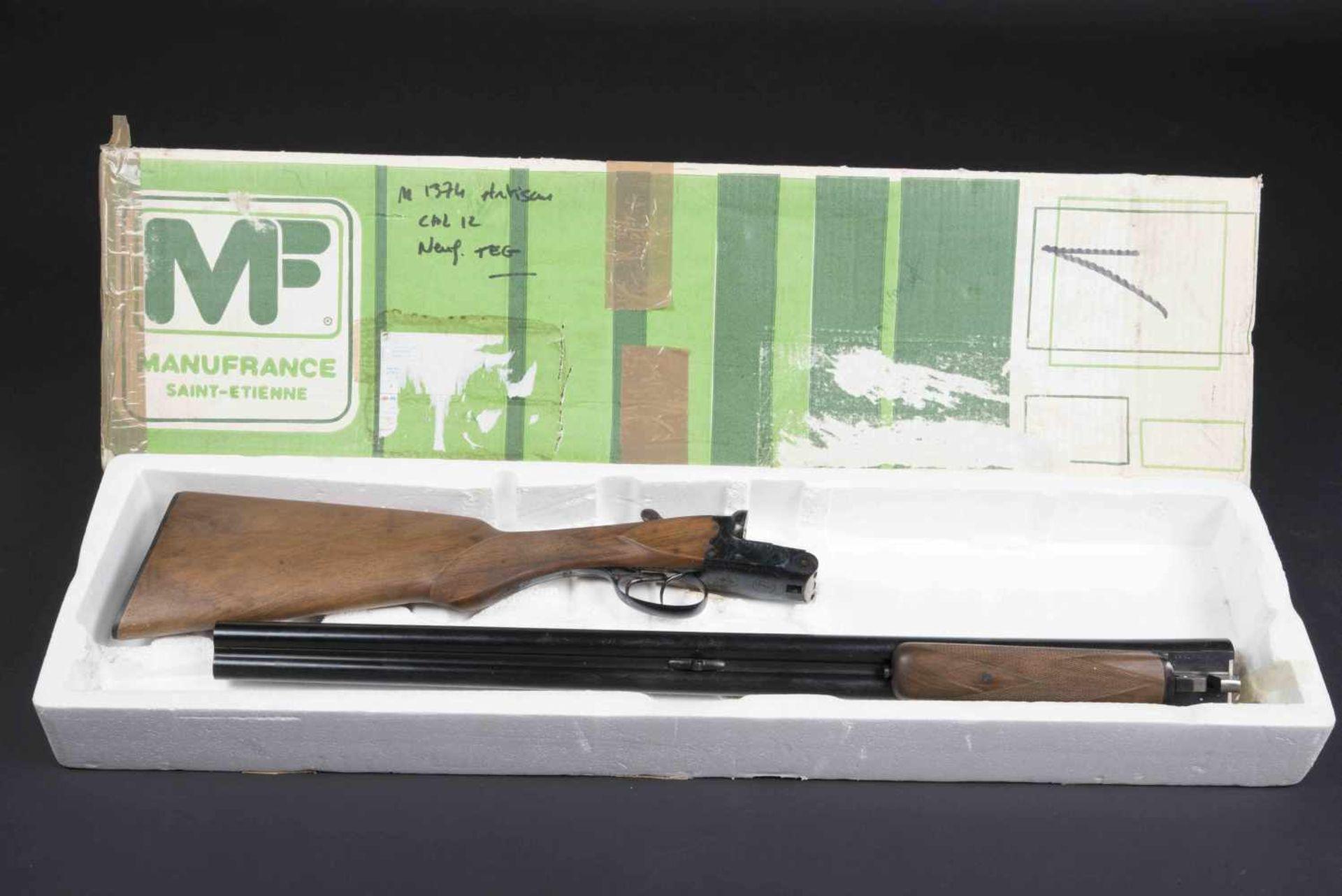 Fusil juxtaposé modèle artisanal Catégorie C Calibre 12, numéro M1374, certificat du Banc d'