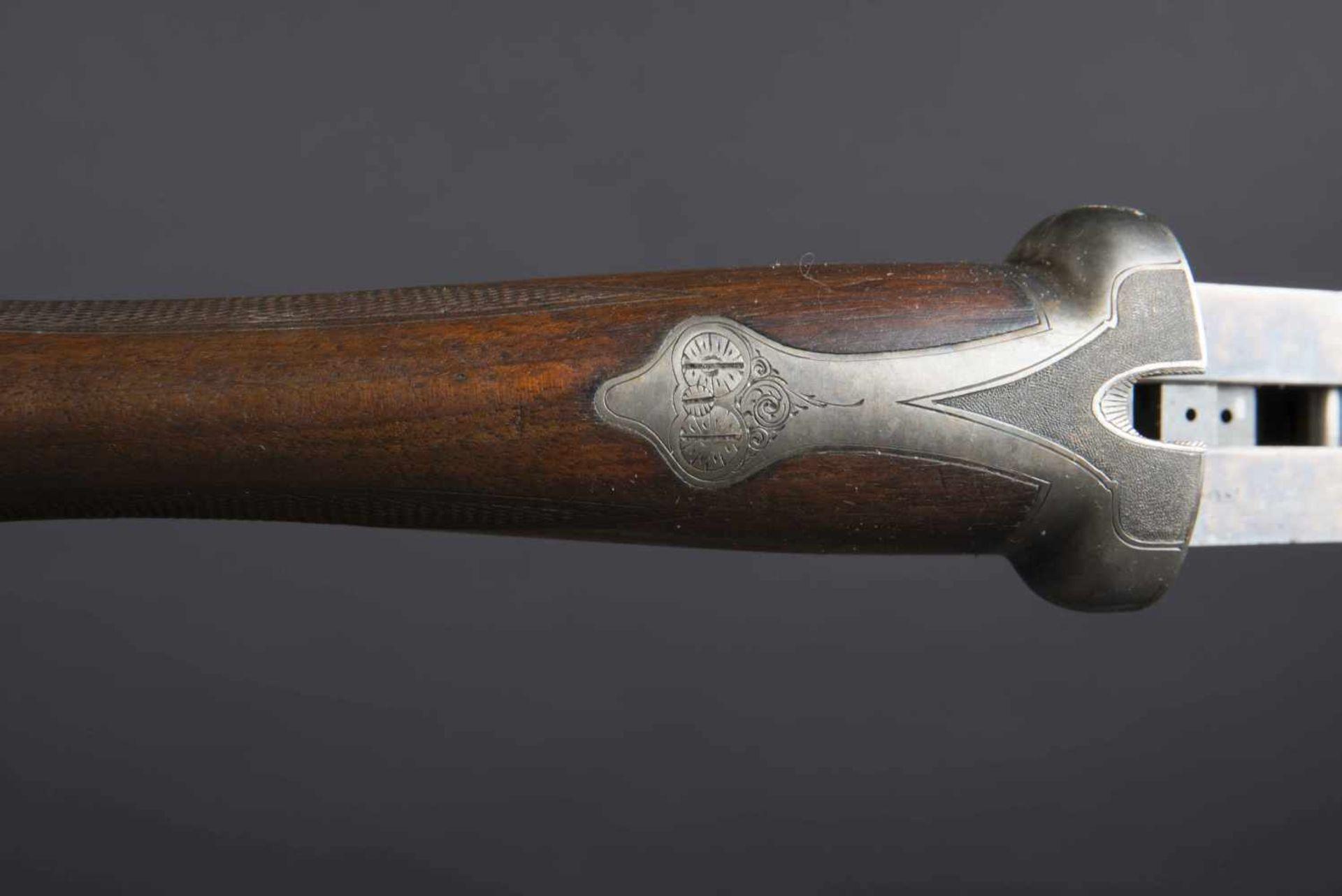 Fusil Robust Ideal Catégorie C Numéro 268. Etiquette présente dans la housse en cuir. Calibre 12. - Bild 4 aus 4