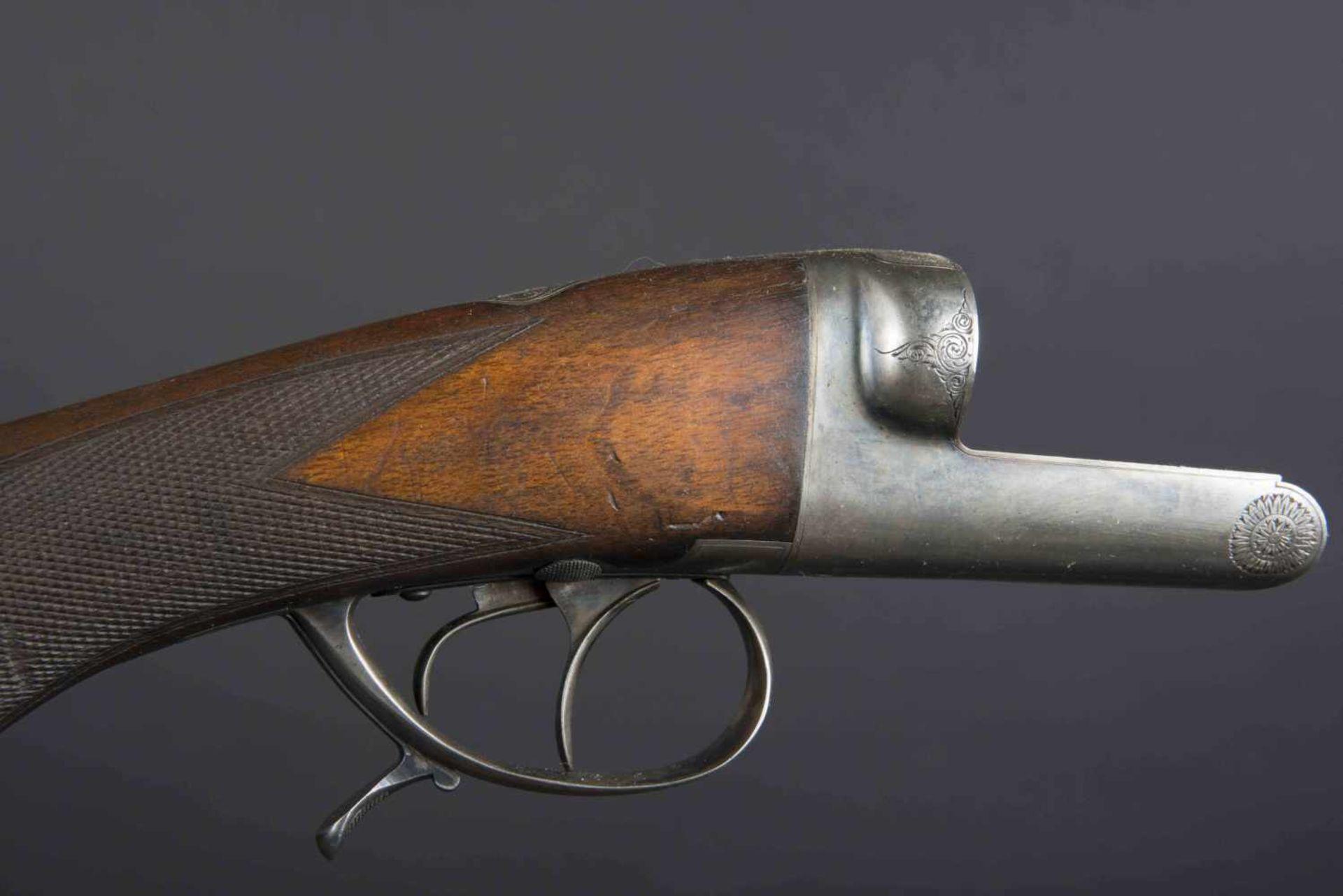 Fusil Robust Ideal Catégorie C Numéro 268. Etiquette présente dans la housse en cuir. Calibre 12. - Bild 2 aus 4