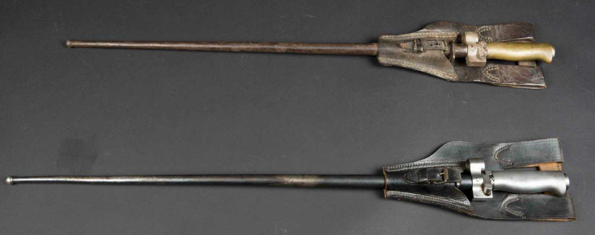 Lot de deux baïonnettes Lebel modèle 1886/1915 poignée maillechort (bon état), Lebel modèle 1886/ - Bild 3 aus 4