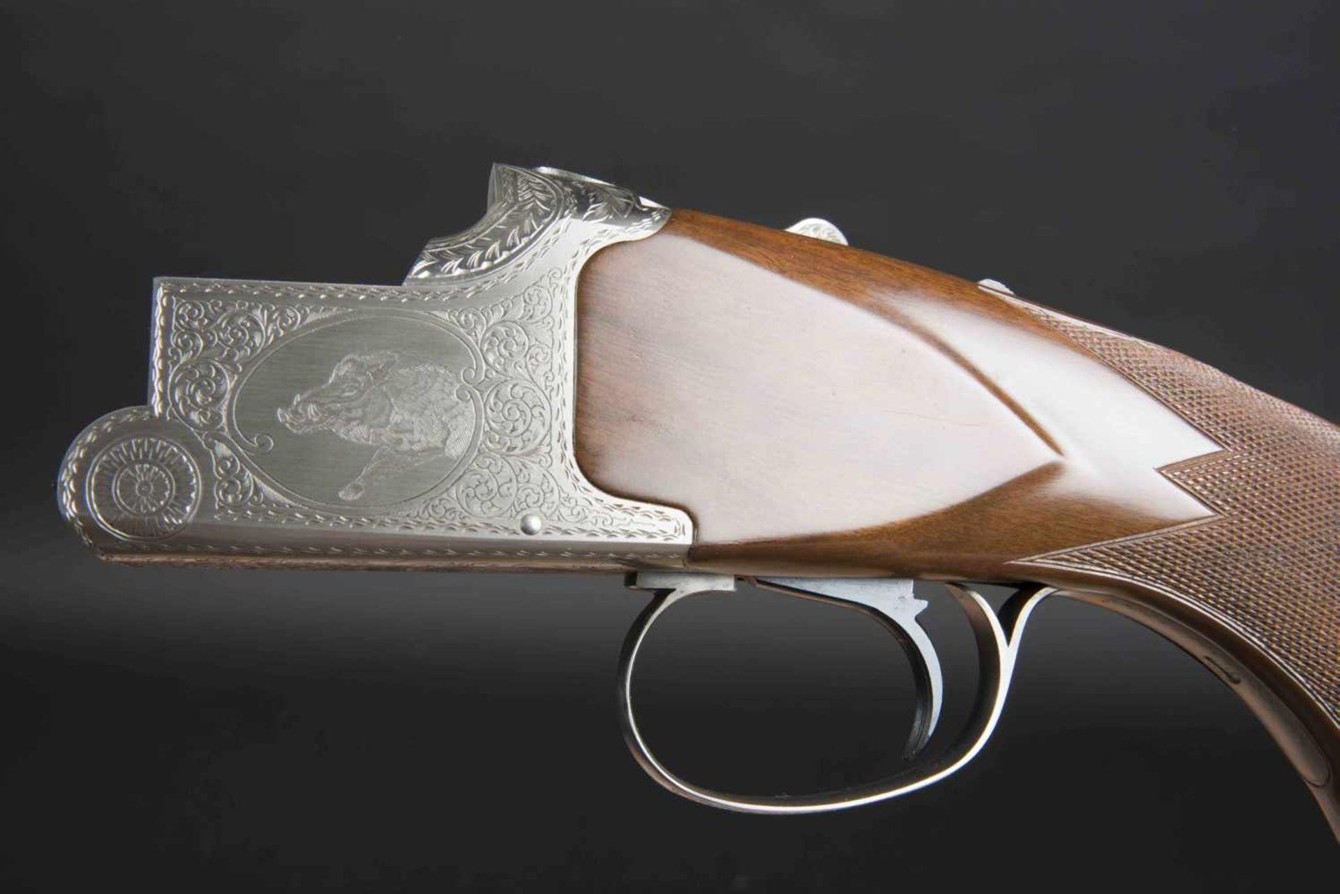 Winchester Catégorie C Grand European XT 9,3x74R/9,3x74R. Parties métalliques ciselées, avec - Bild 3 aus 4