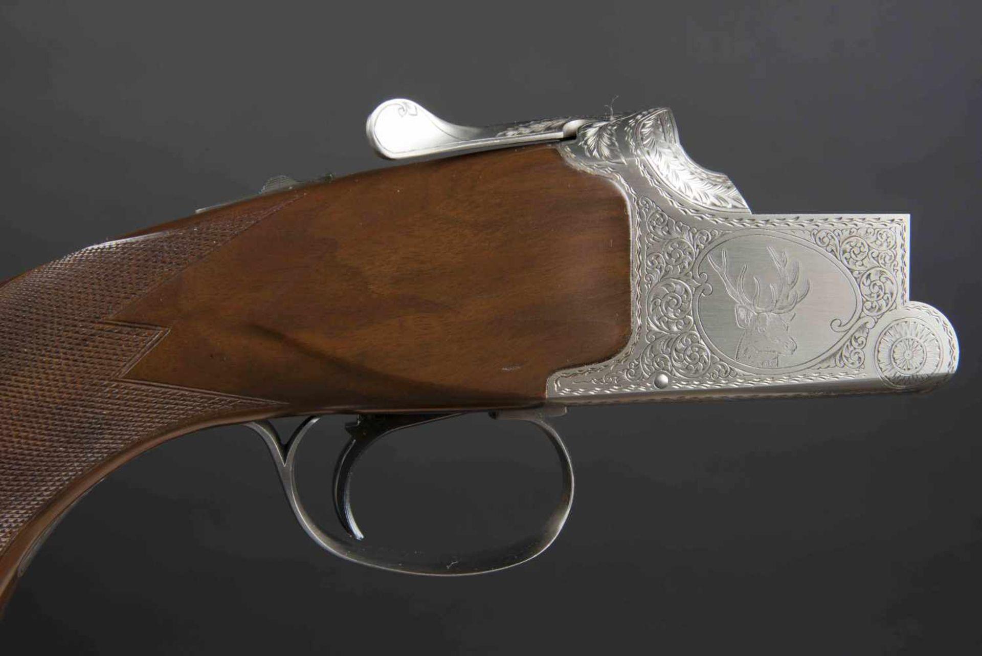 Winchester Catégorie C Grand European XT 9,3x74R/9,3x74R. Parties métalliques ciselées, avec - Bild 2 aus 4