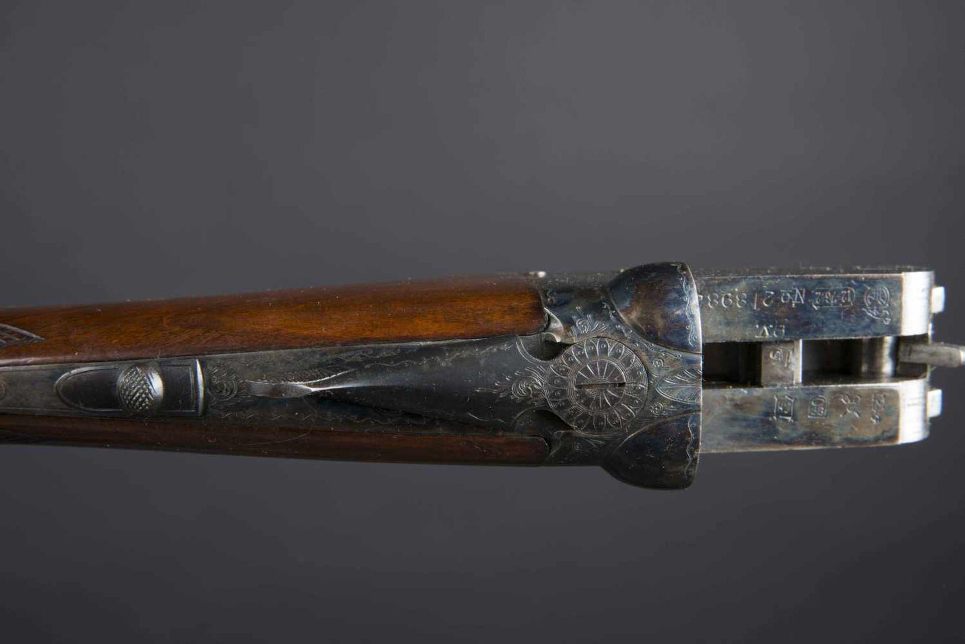 Fusil Aya Aguirre & Aranzabel Catégorie C Crosse vernie, nombreux poinçons, calibre 12/76, numéro - Bild 3 aus 3